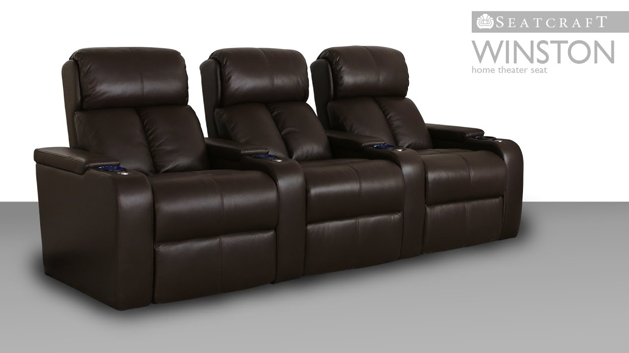 Seatcraft Winston Home Theater Furniture | 4Seating within Kristen Silver Grey 6 Piece Power Reclining Sectionals (Image 22 of 30)