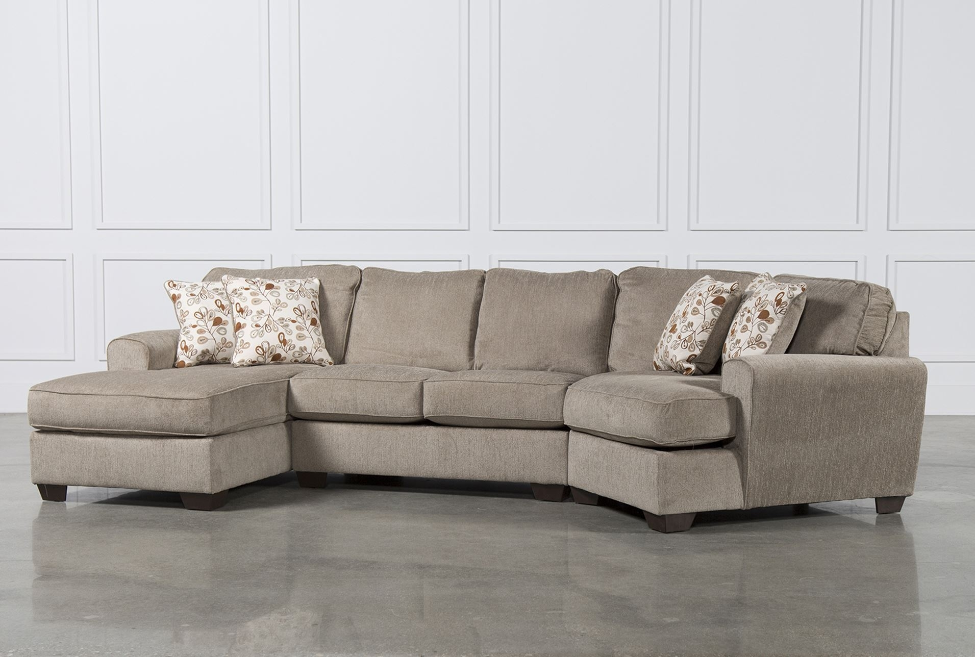 Sectional Couches Living Spaces Aurora 2 Piece Sectional Living for Aquarius Light Grey 2 Piece Sectionals With Raf Chaise (Image 23 of 30)