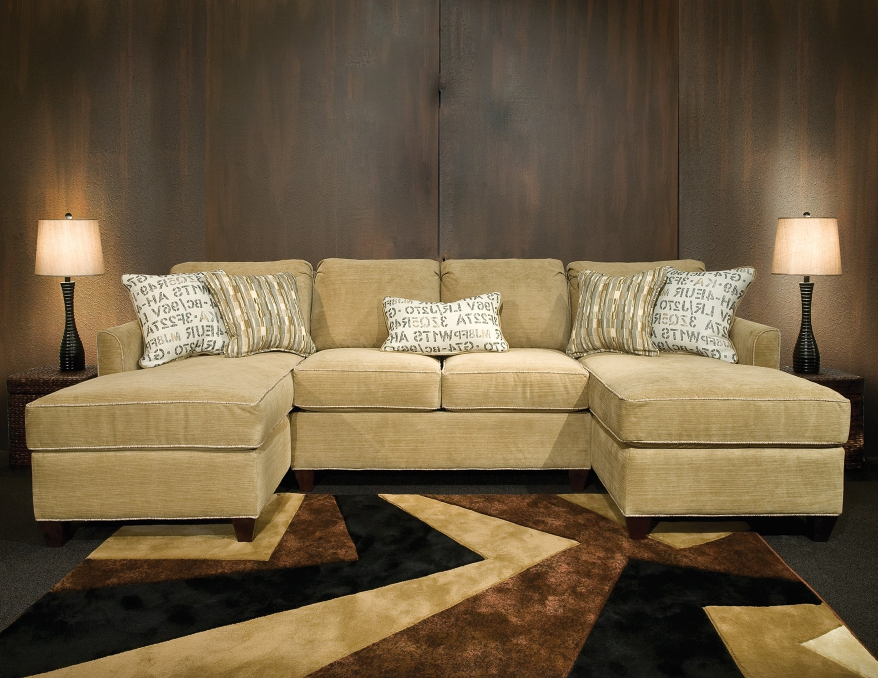 Sectional With 2 Chaises - Tidex within Tenny Cognac 2 Piece Right Facing Chaise Sectionals With 2 Headrest (Image 23 of 30)