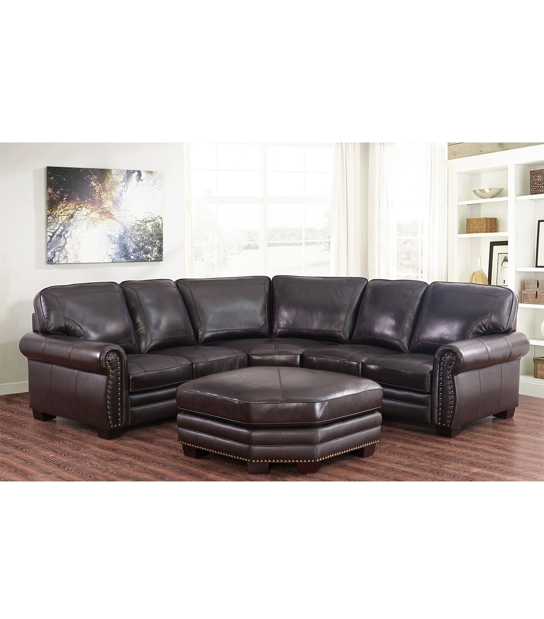 Sectionals : Adeline Leather Sectional pertaining to Adeline 3 Piece Sectionals (Image 26 of 30)