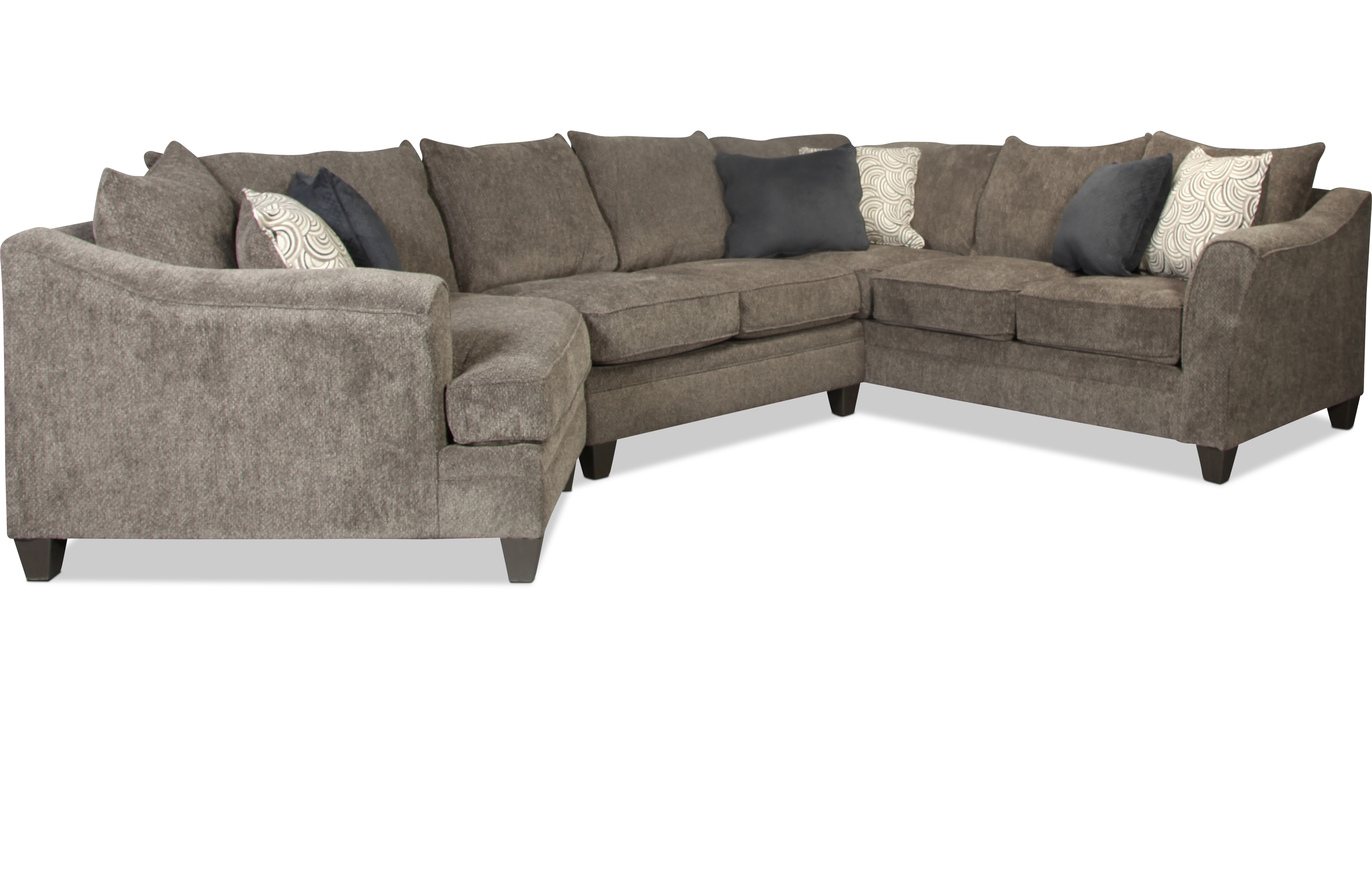 Sectionals | Levin Furniture for Tatum Dark Grey 2 Piece Sectionals With Laf Chaise (Image 19 of 30)
