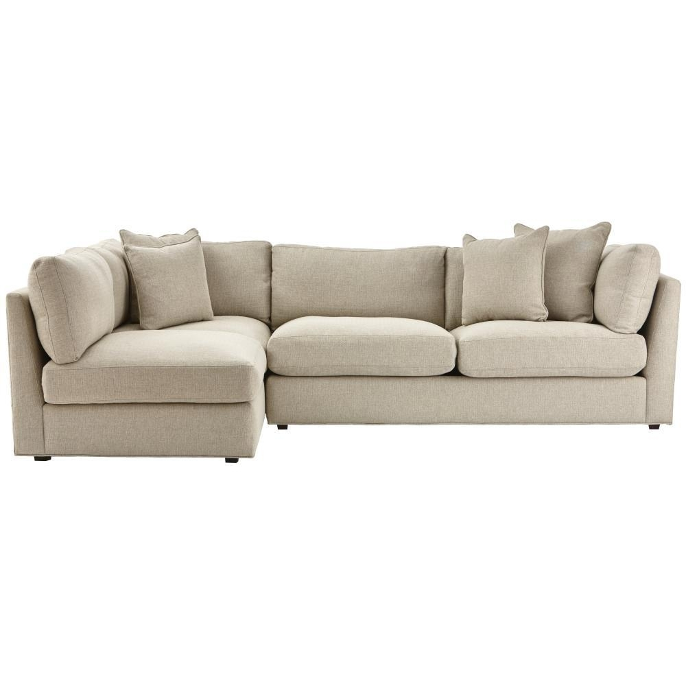 Sectionals - Living Room Furniture - The Home Depot for Jobs Oat 2 Piece Sectionals With Left Facing Chaise (Image 22 of 30)