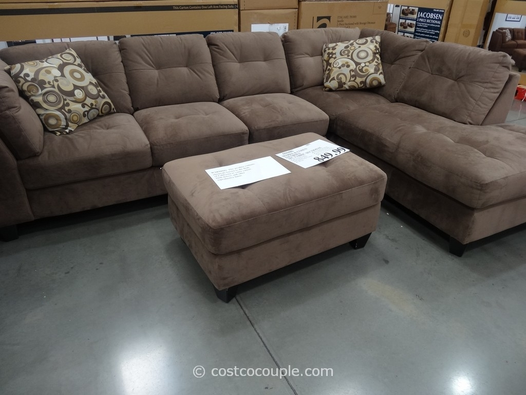 Sectionals Sofas Costco | Home Decoration Club regarding Burton Leather 3 Piece Sectionals With Ottoman (Image 20 of 30)