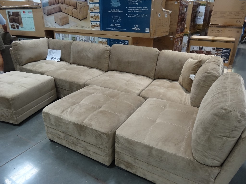 Sectionals Sofas Costco | Home Decoration Club with regard to Burton Leather 3 Piece Sectionals With Ottoman (Image 21 of 30)