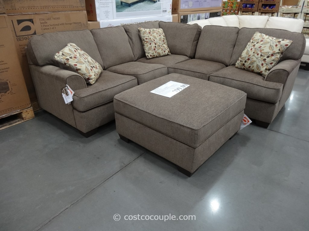 Sectionals Sofas Costco | Home Decoration Club within Burton Leather 3 Piece Sectionals With Ottoman (Image 22 of 30)