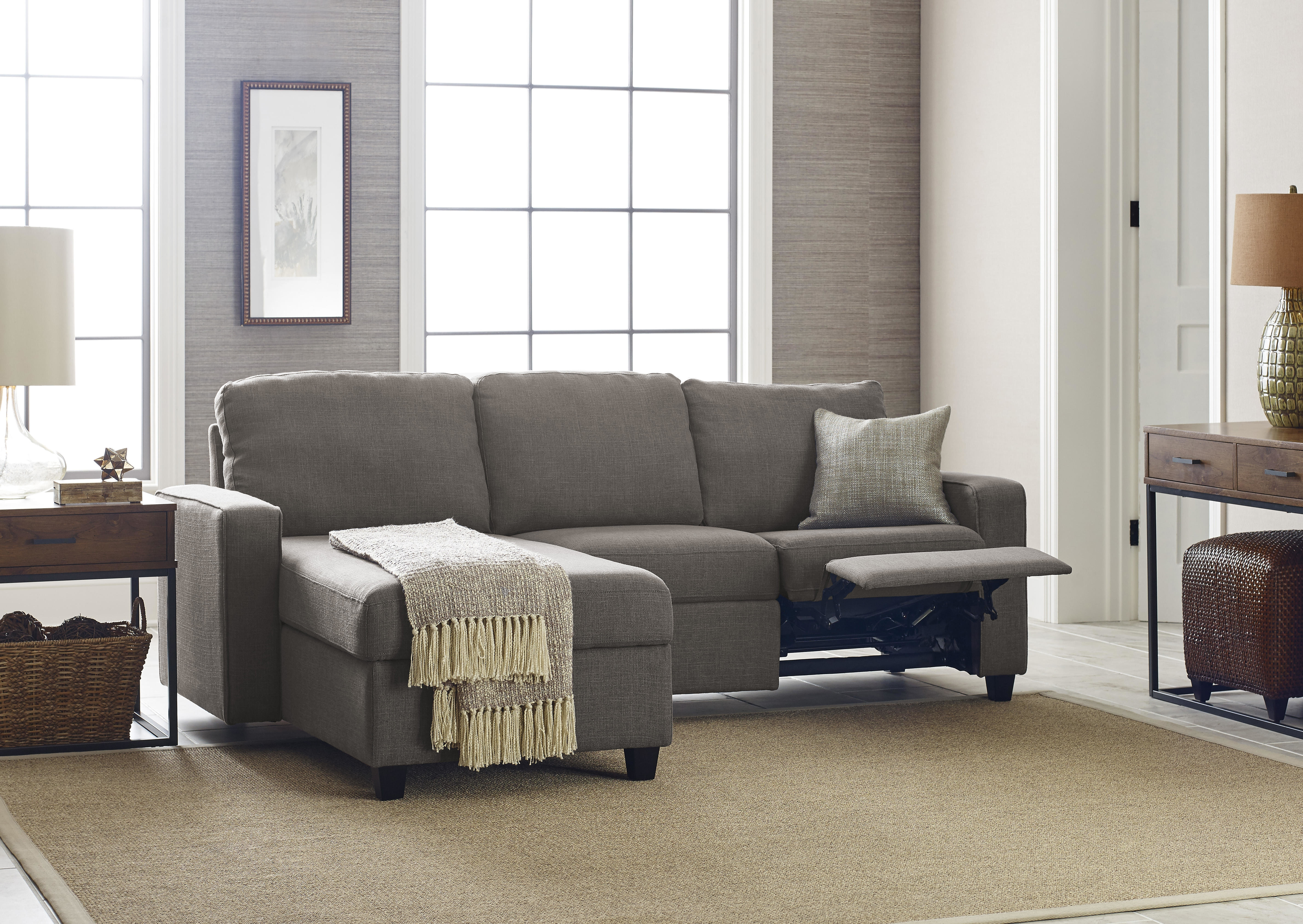 Serta At Home Palisades Reclining Sectional & Reviews | Wayfair inside Josephine 2 Piece Sectionals With Laf Sofa (Image 26 of 30)