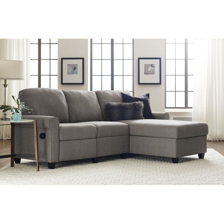 Serta Copenhagen Reclining Sectional With Left Storage Cha intended for Delano Smoke 3 Piece Sectionals (Image 24 of 30)