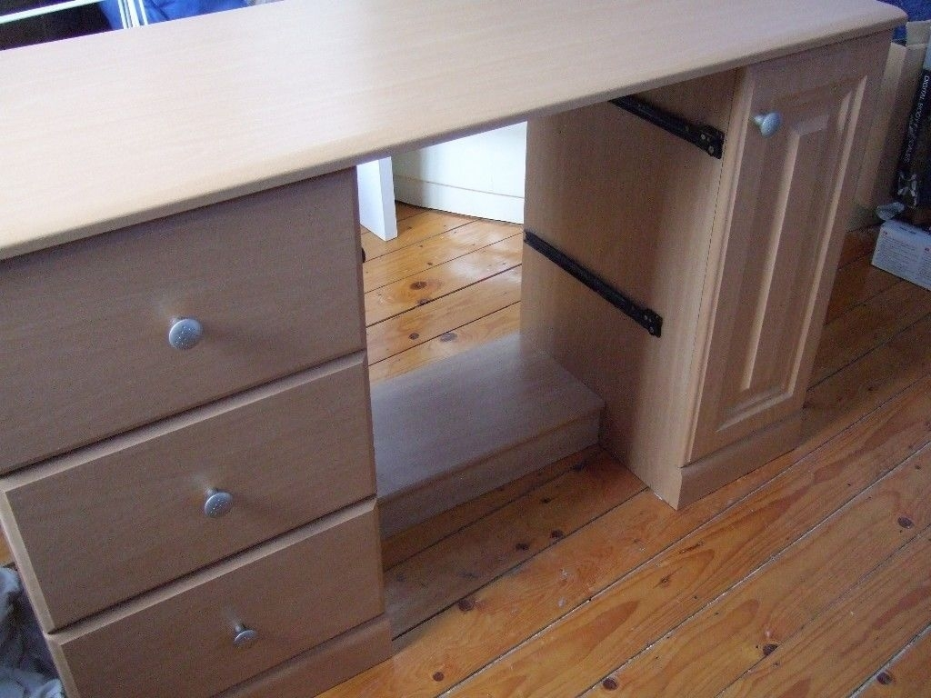 Set Of Study/home Office Furniture | In March, Cambridgeshire | Gumtree throughout 4-Door/4-Drawer Cast Jali Sideboards (Image 22 of 30)