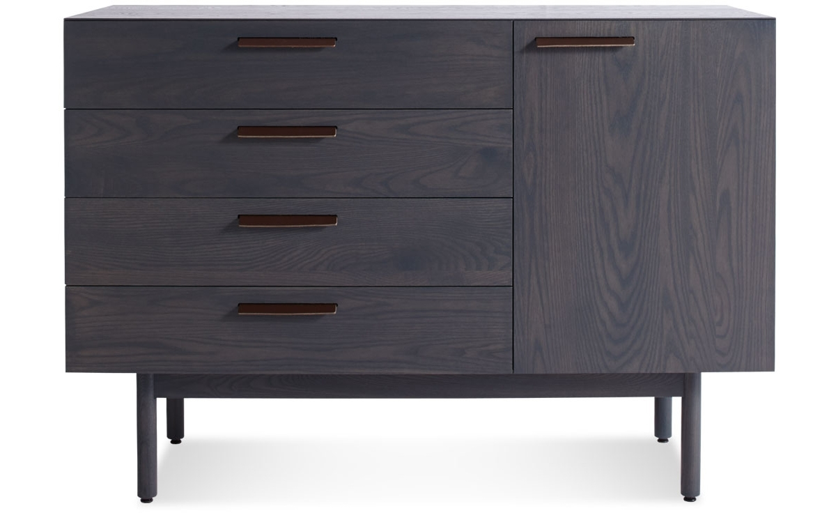 Shale 4 Drawer / 1 Door Credenza - Hivemodern with regard to Girard 4 Door Sideboards (Image 20 of 30)