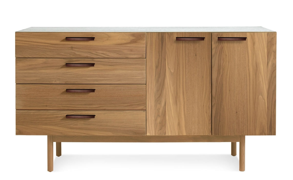 Shale 4 Drawer / 2 Door Credenza - Hivemodern throughout Girard 4 Door Sideboards (Image 22 of 30)