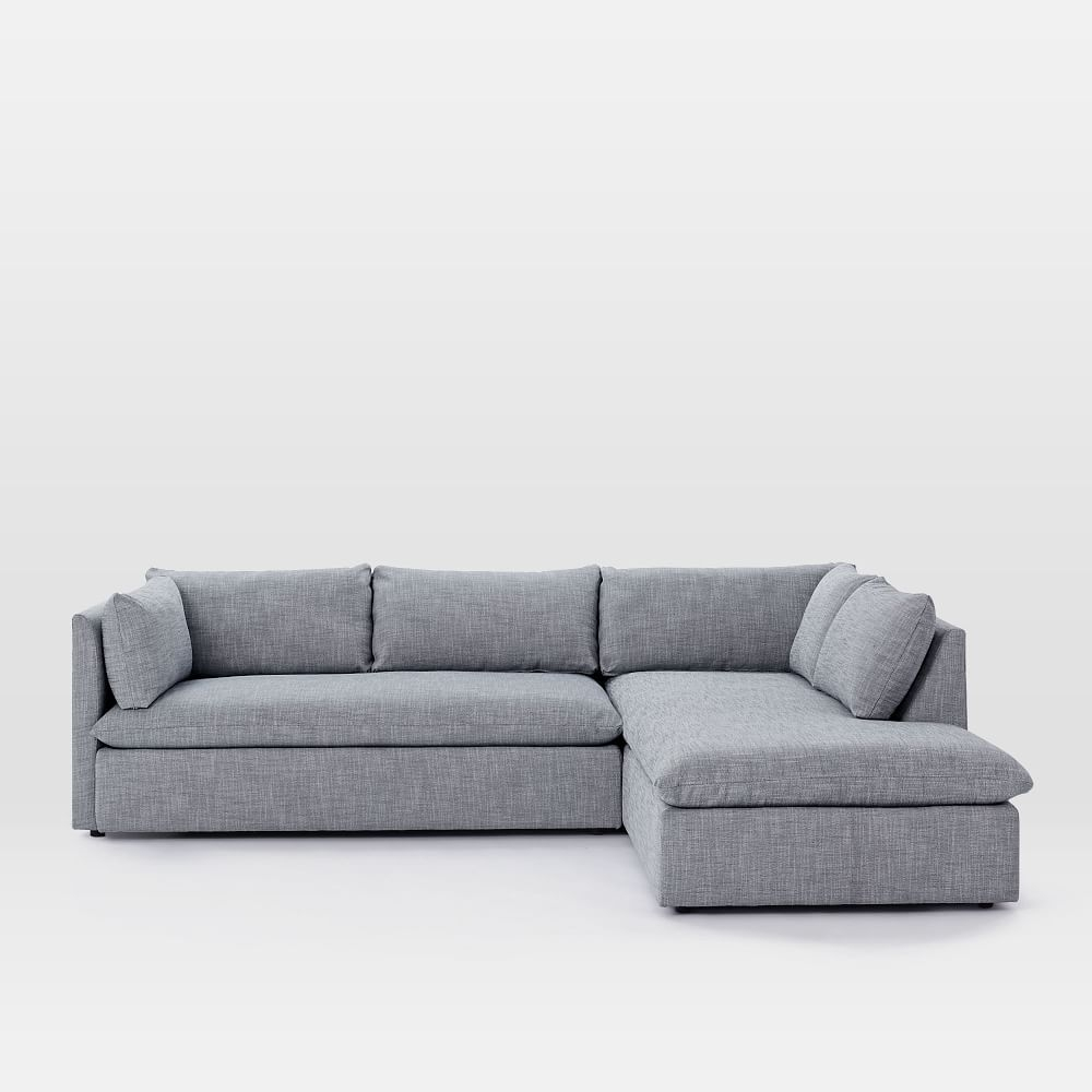 Shelter 2-Piece Terminal Chaise Sectional | Pinterest | Living Rooms with regard to Mcculla Sofa Sectionals With Reversible Chaise (Image 25 of 30)