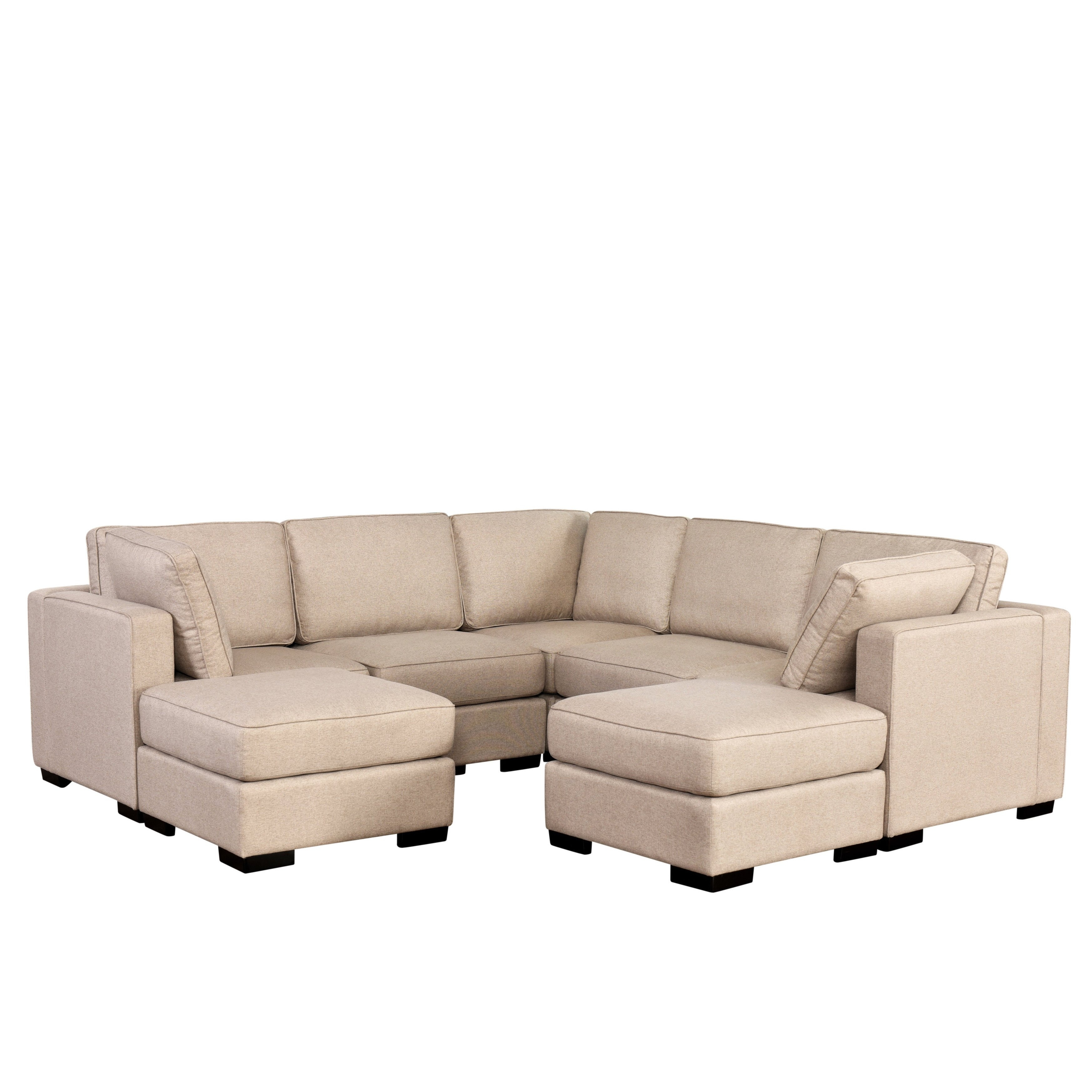 Shop Abbyson Harper Fabric Modular 7-Piece Sectional - Free Shipping for Harper Down 3 Piece Sectionals (Image 25 of 30)