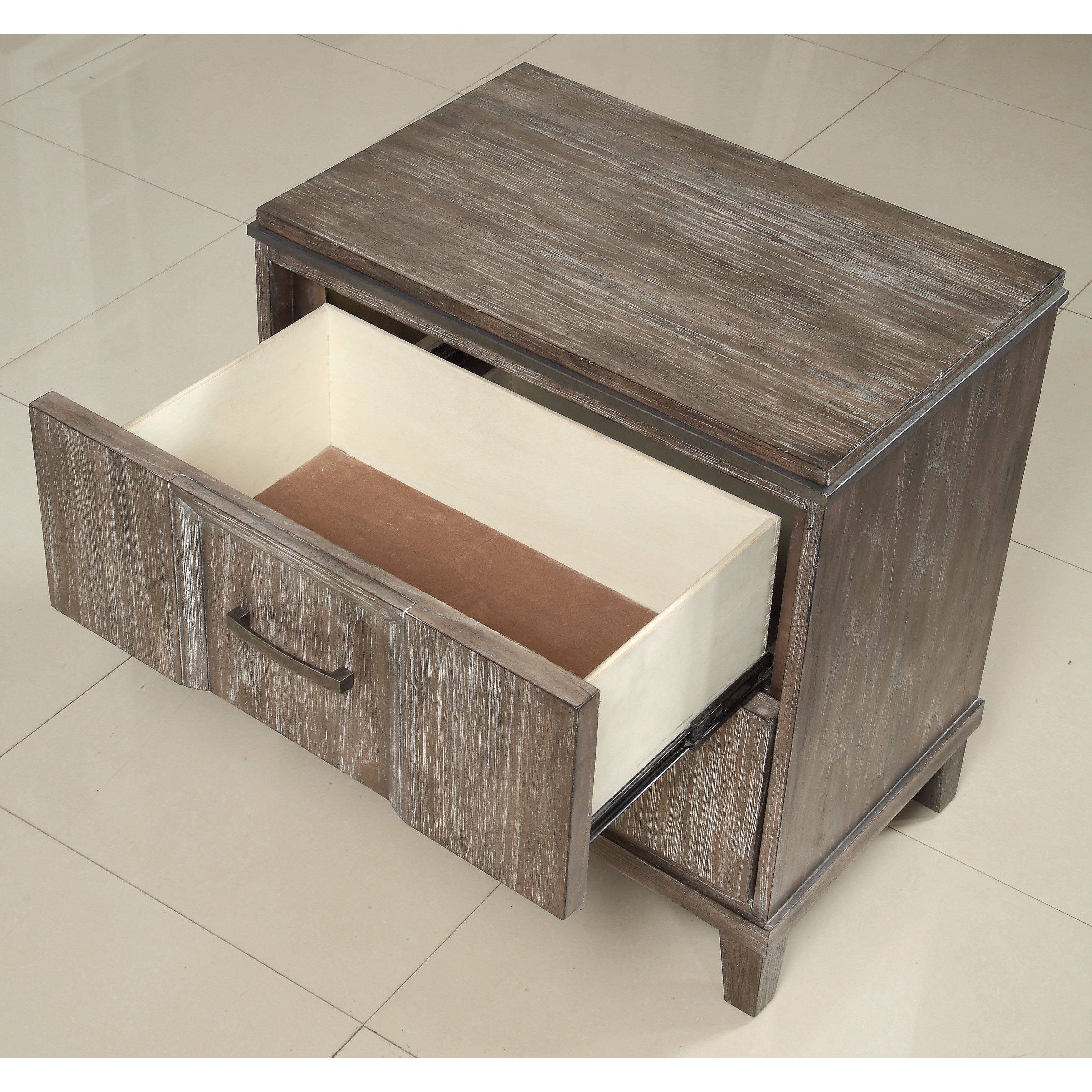 Shop Acme Furniture Bayonne Burnt Oak 2-Drawer Nightstand With pertaining to Burnt Oak Wood Sideboards (Image 25 of 30)