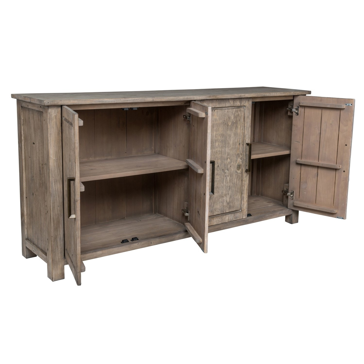 Shop Aires Reclaimed Wood 72-Inch Sideboardkosas Home - Free for Reclaimed Pine & Iron 72 Inch Sideboards (Image 16 of 30)