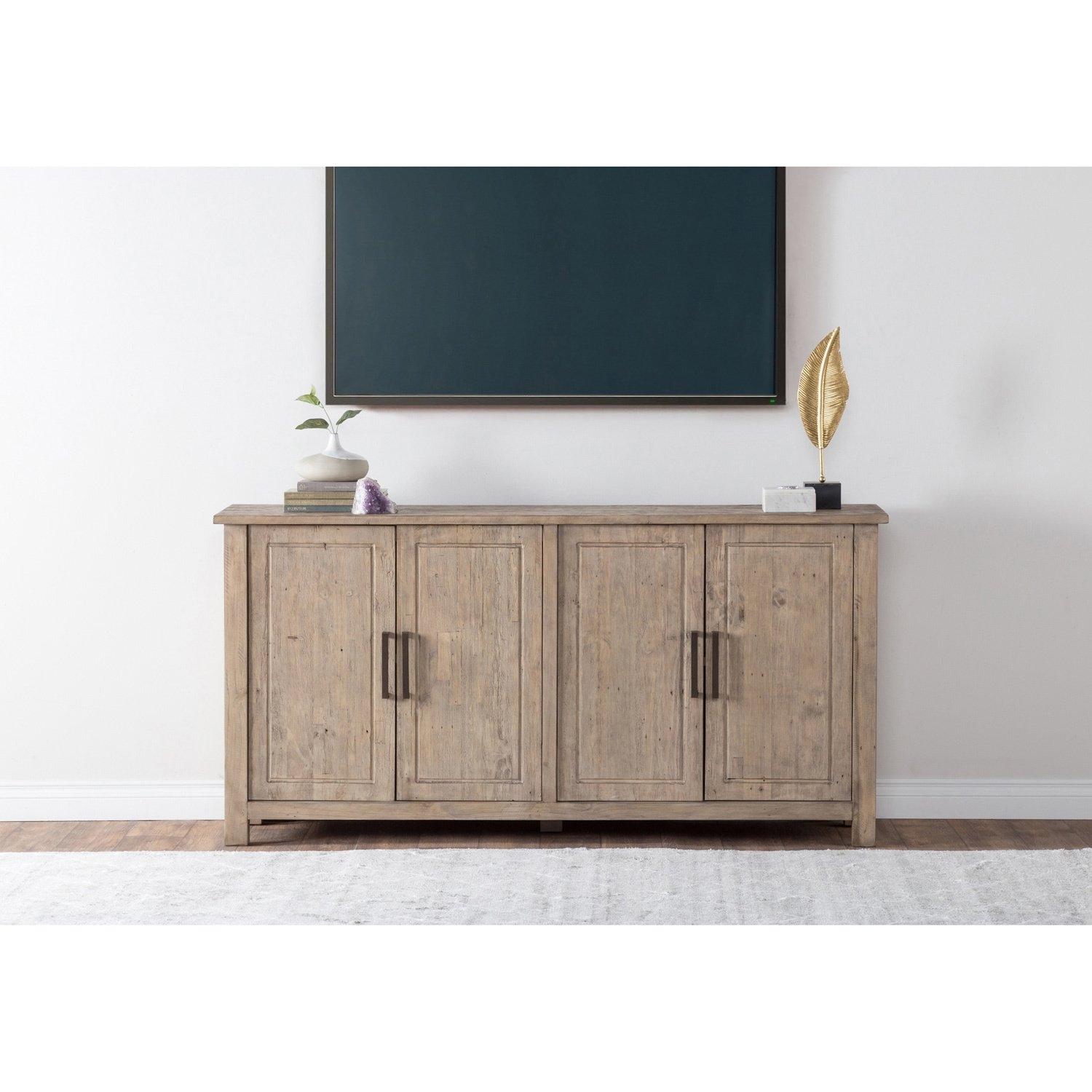 Shop Aires Reclaimed Wood 72-Inch Sideboardkosas Home - Free inside Reclaimed Pine & Iron 72 Inch Sideboards (Image 17 of 30)