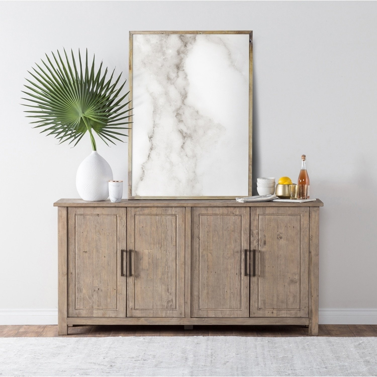 Shop Aires Reclaimed Wood 72-Inch Sideboardkosas Home - Free within Reclaimed Pine & Iron 72 Inch Sideboards (Image 19 of 30)