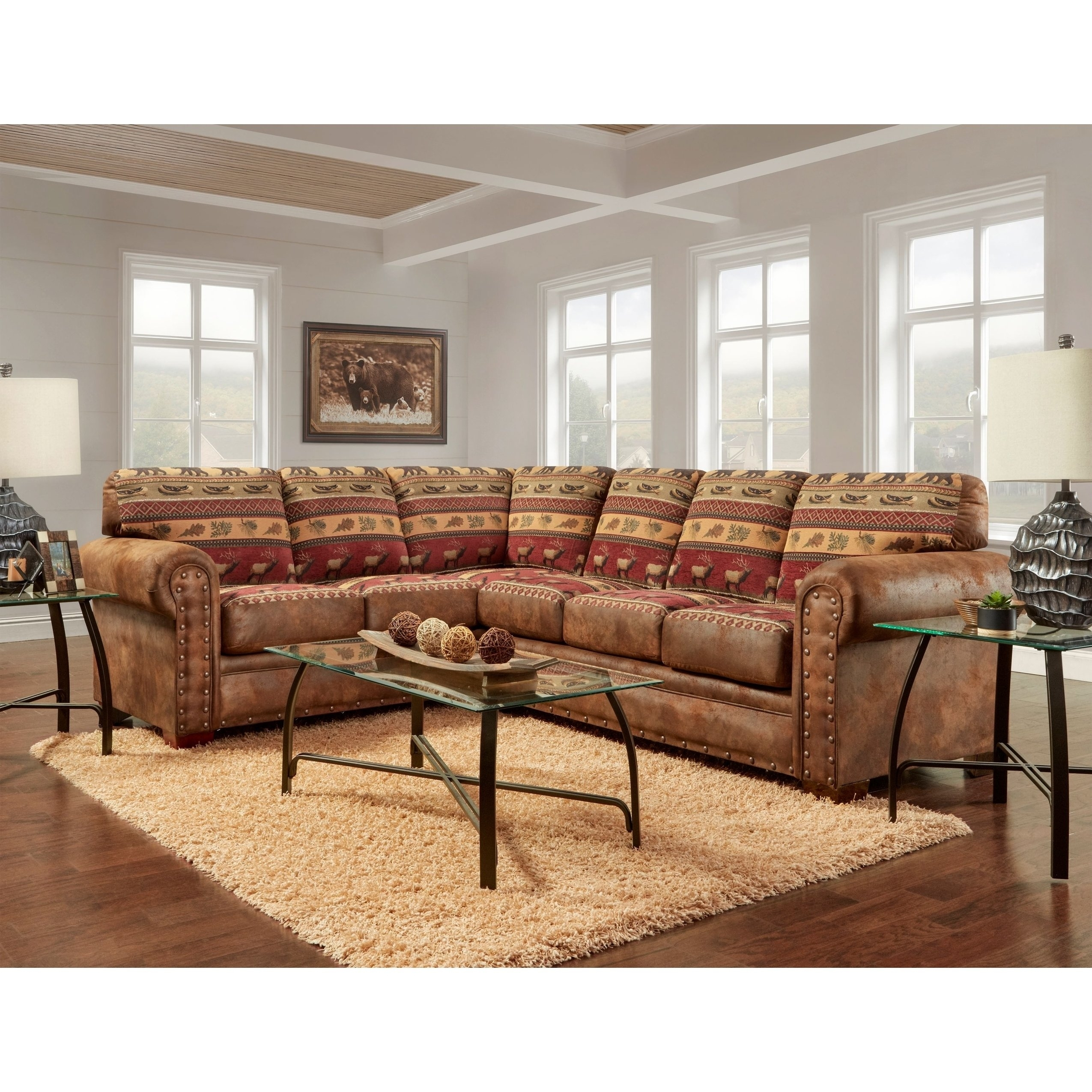 Shop American Furniture Classics Model B1650K Sierra Lodge Two Piece for Sierra Foam Ii 3 Piece Sectionals (Image 26 of 30)