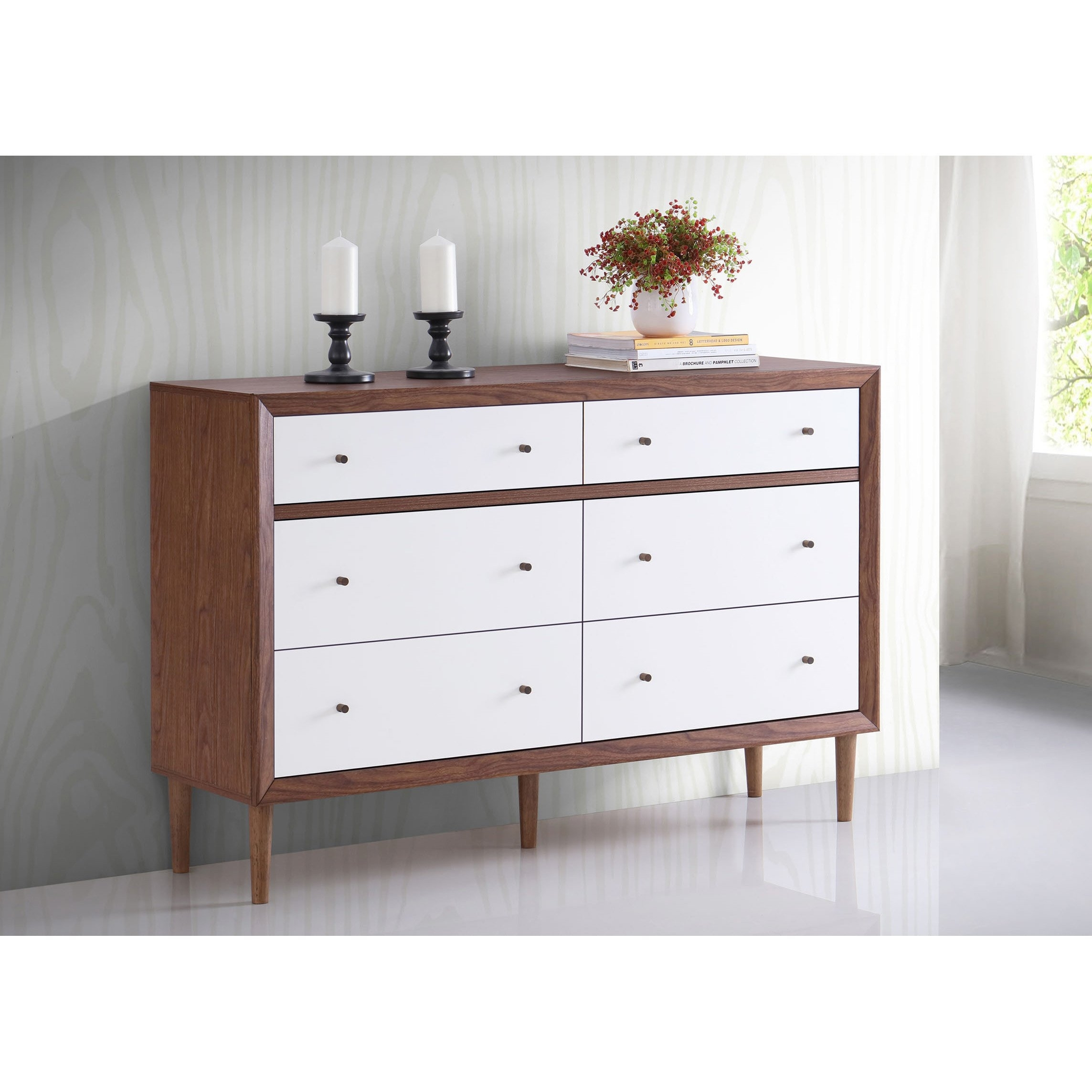 Shop Baxton Studio Harlow Mid Century Modern Scandinavian Style Within Marbled Axton Sideboards (View 10 of 26)