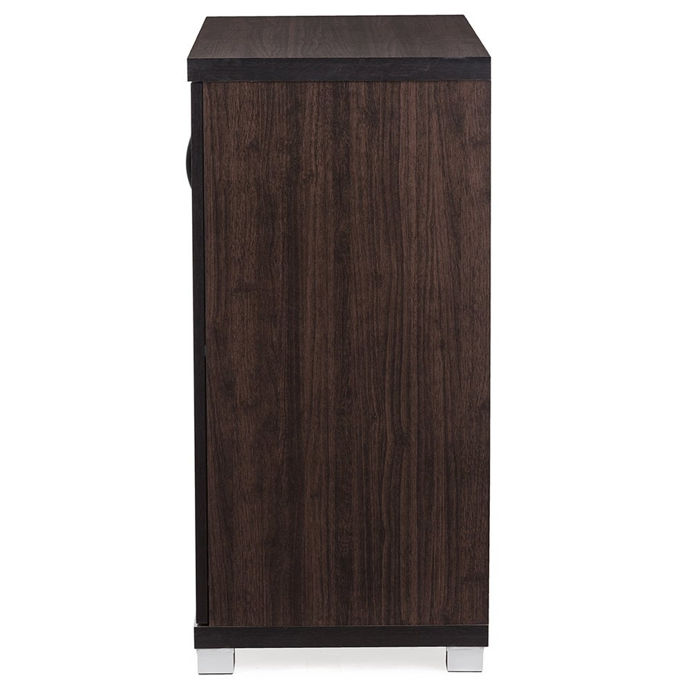 Shop Baxton Studio Zentra Modern And Contemporary Dark Brown With Regard To Marbled Axton Sideboards (View 7 of 26)