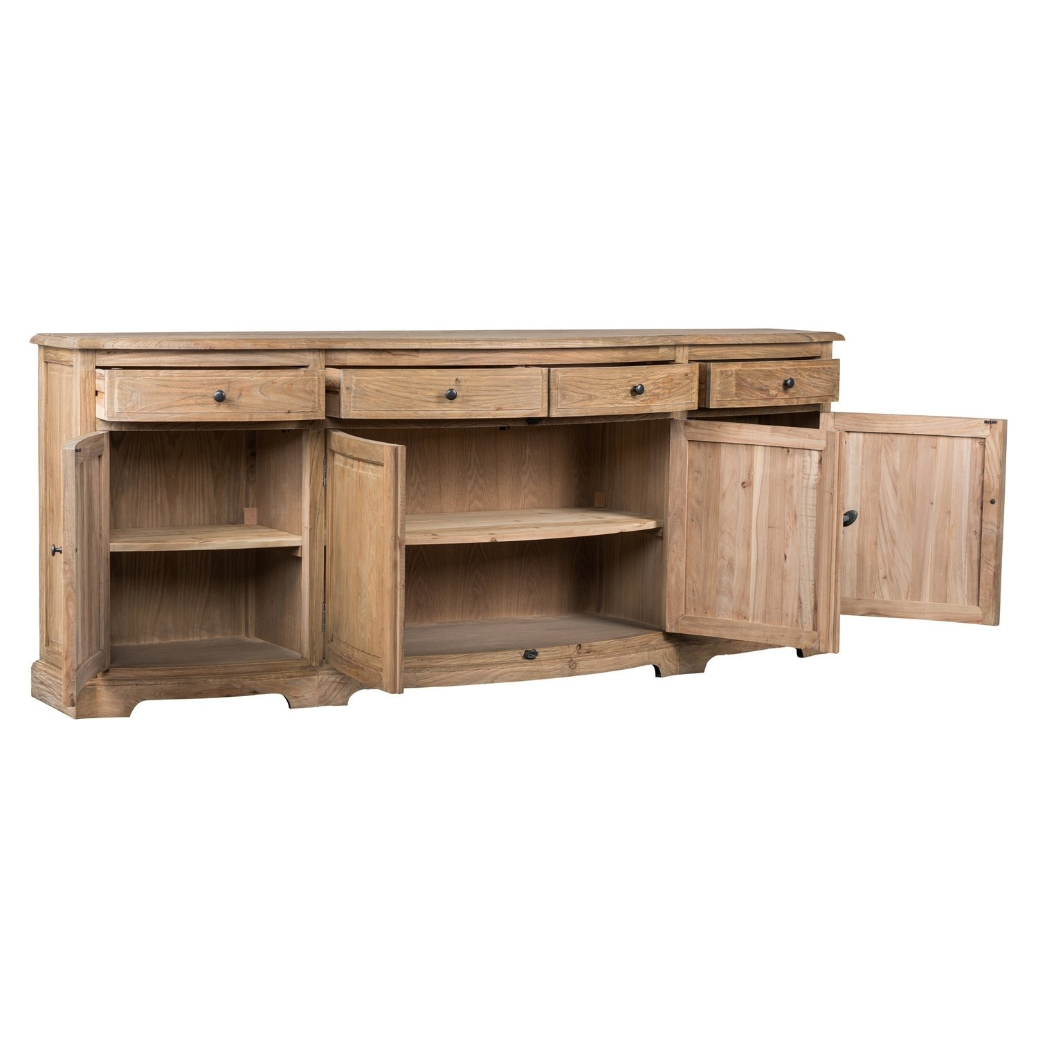Shop Benjamin Reclaimed Wood Natural 87-Inch Sideboardkosas Home with Natural Oak Wood 78 Inch Sideboards (Image 19 of 30)