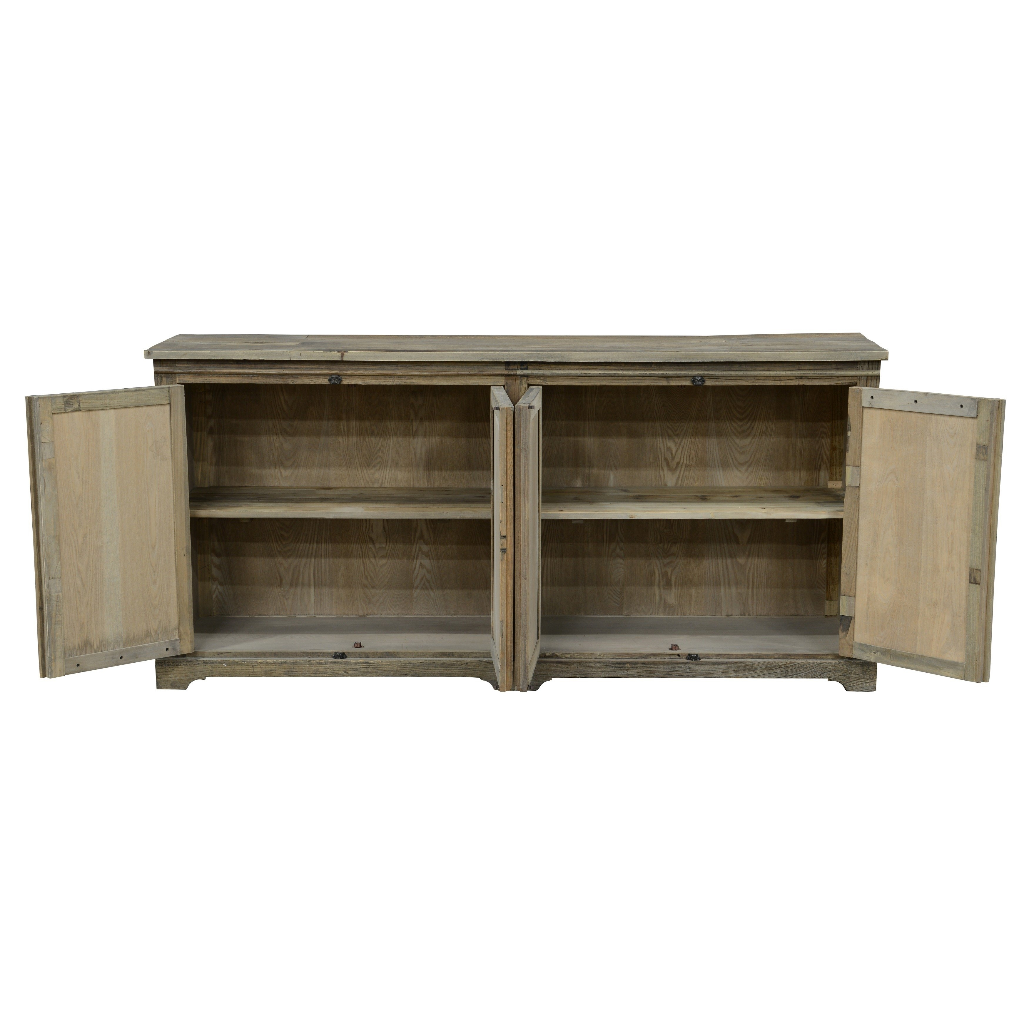 Shop Bradley Reclaimed Wood Mirrored 78-Inch Sideboardkosas Home in Natural Oak Wood 78 Inch Sideboards (Image 20 of 30)