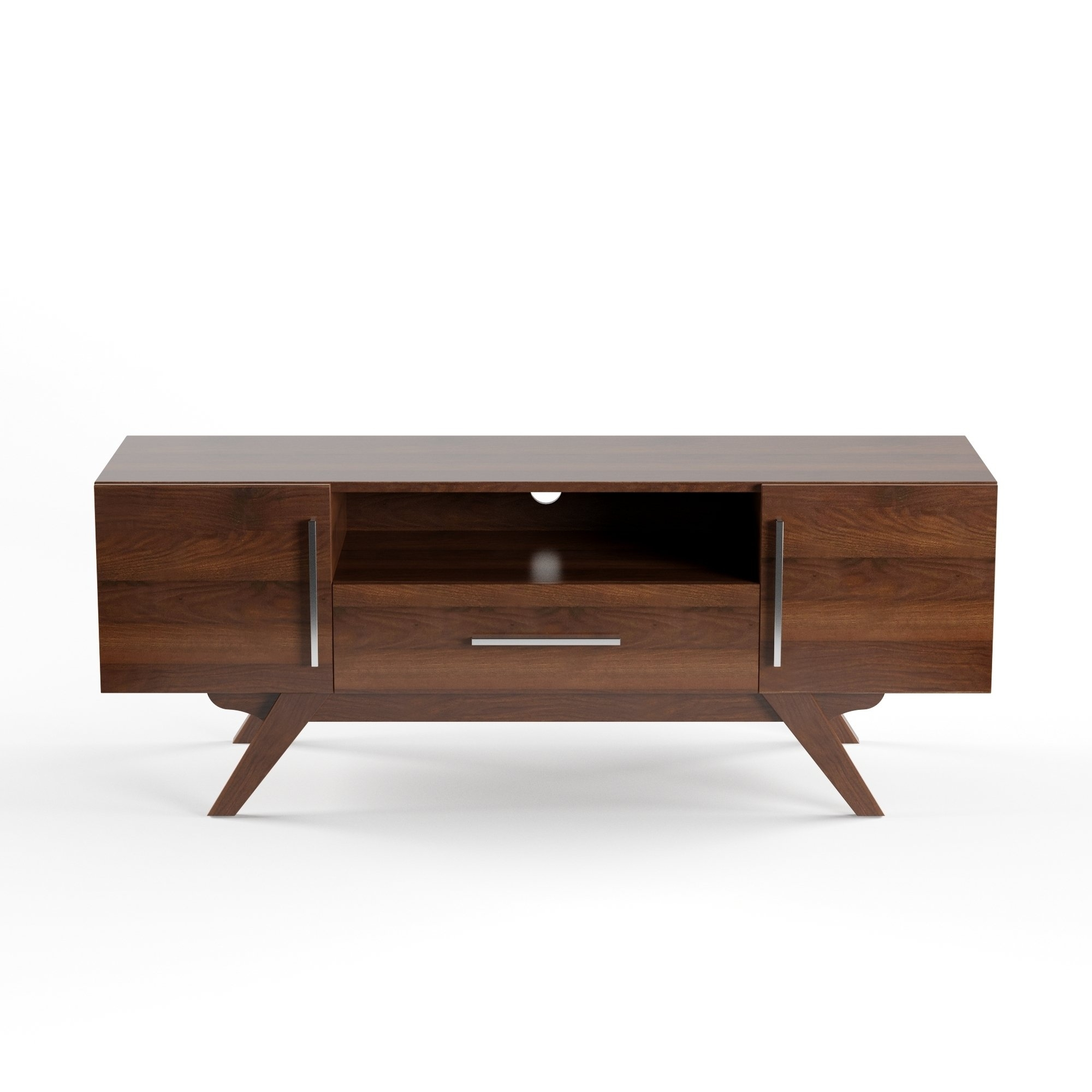 Shop Carson Carrington Arendal Mid Century Tv Stand – Free Shipping In Mid Burnt Oak 71 Inch Sideboards (View 15 of 30)