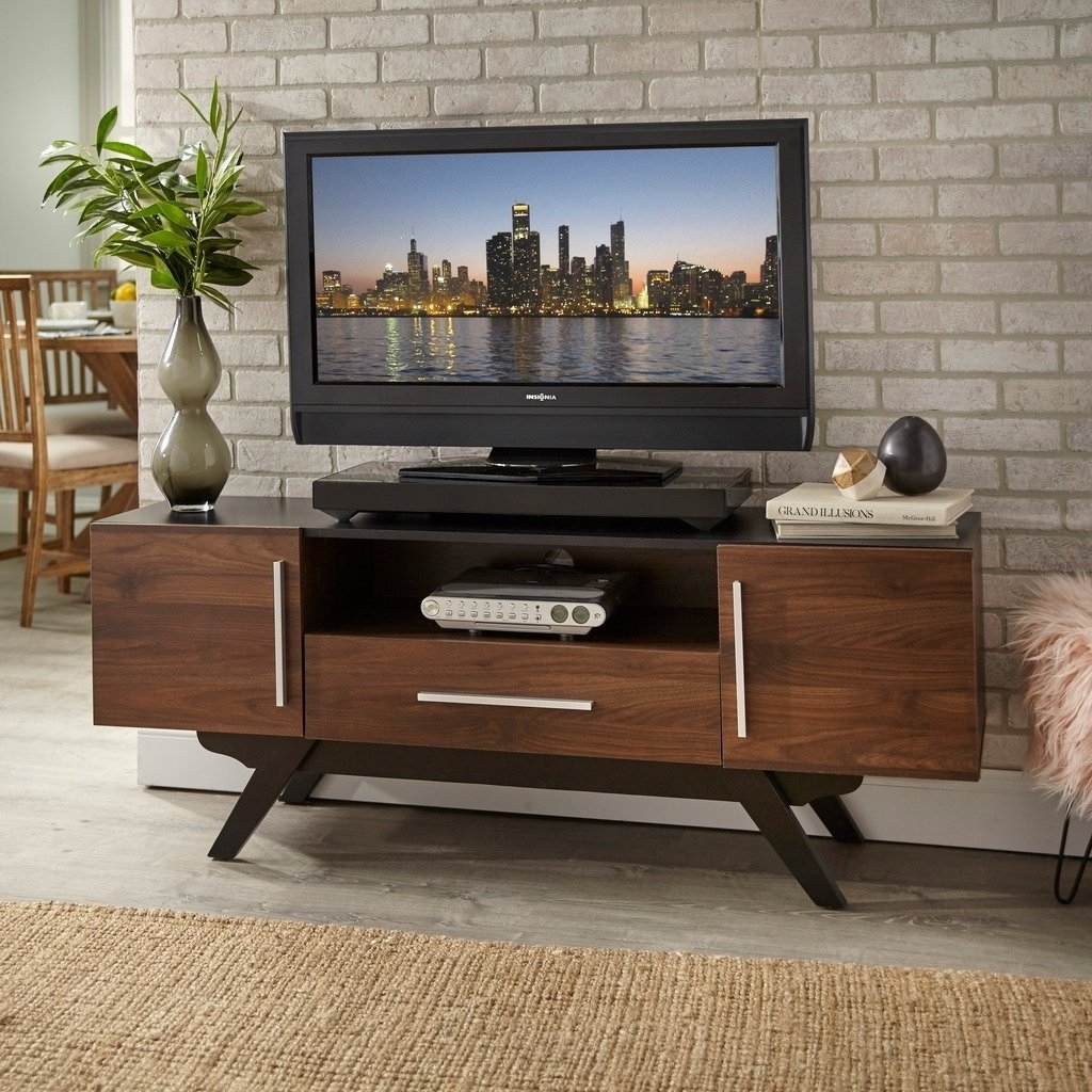 Shop Carson Carrington Arendal Mid Century Tv Stand – Free Shipping Intended For Mid Burnt Oak 71 Inch Sideboards (View 11 of 30)