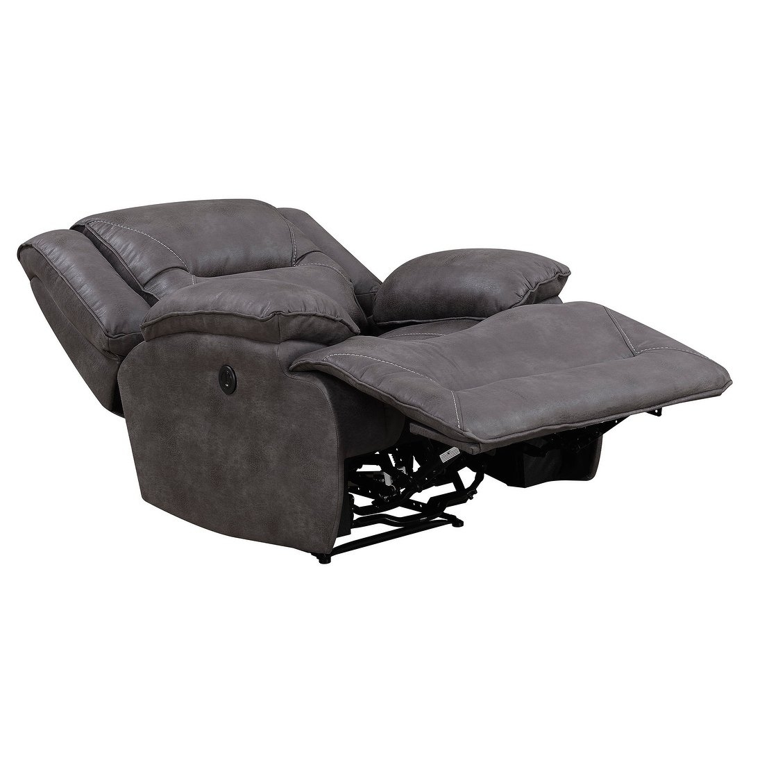 Shop Dylan Power Recliner With Memory Foam Seat Topper And Usb intended for Travis Dk Grey Leather 6 Piece Power Reclining Sectionals With Power Headrest & Usb (Image 21 of 30)