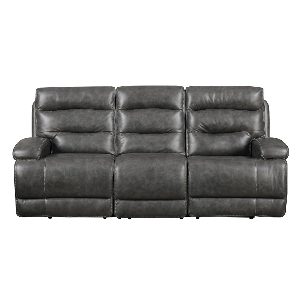 Shop Emerald Home Burton Grey Power Motion Sofa - Free Shipping throughout Burton Leather 3 Piece Sectionals (Image 26 of 30)