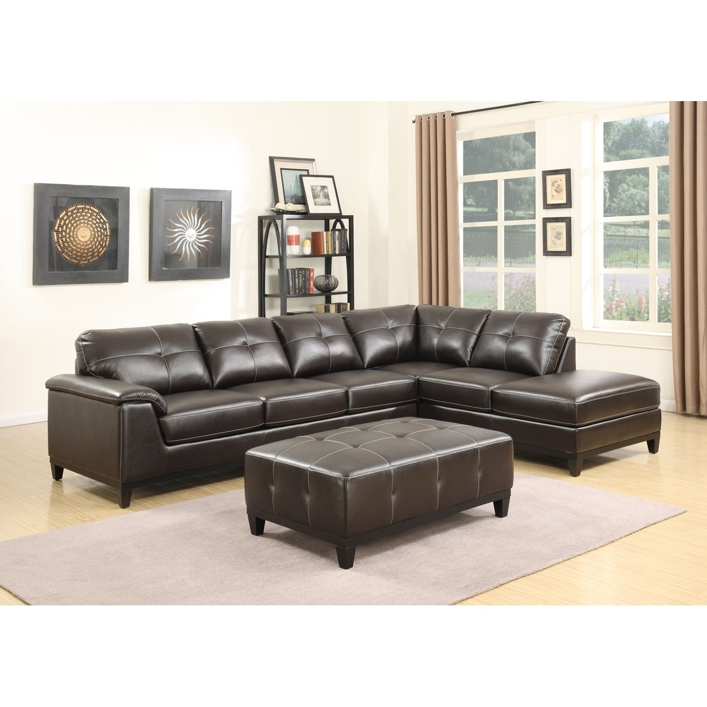 Shop Emerald Home Marquis 3-Piece Sectional With 6 Seats - Free for Haven Blue Steel 3 Piece Sectionals (Image 28 of 30)
