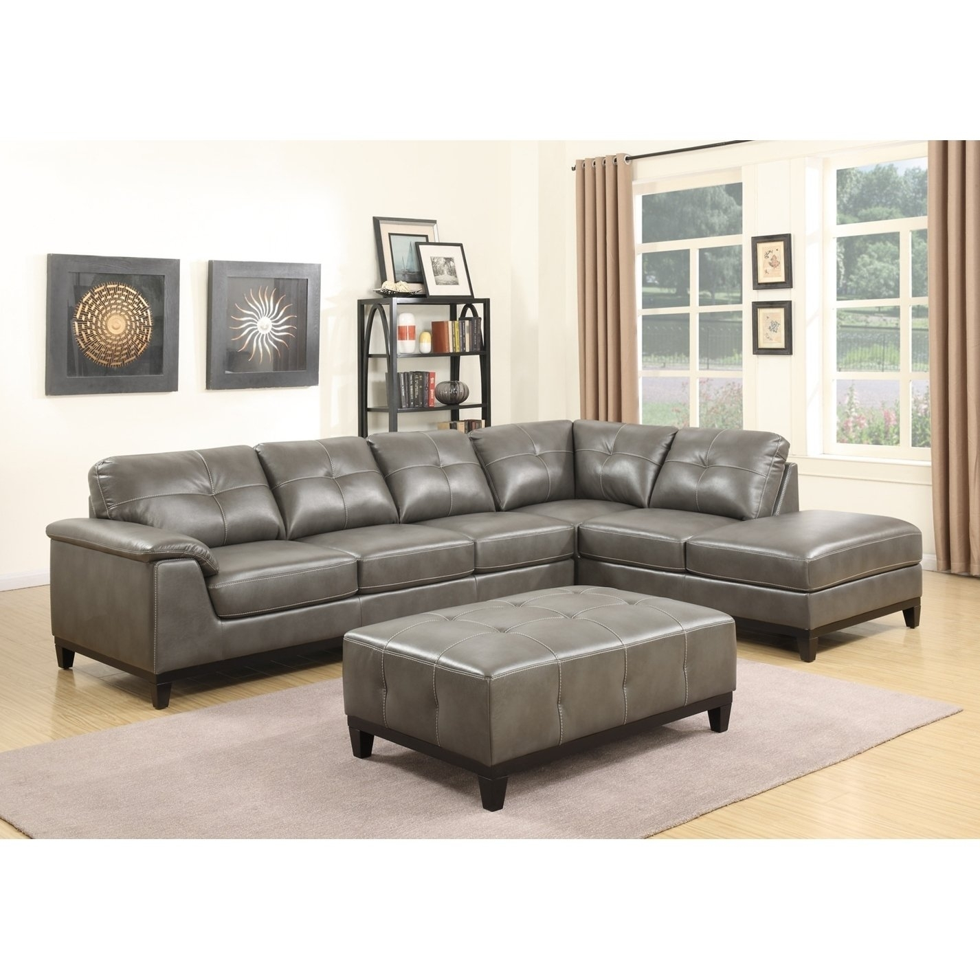 Shop Emerald Home Marquis 3-Piece Sectional With 6 Seats - Free with Haven 3 Piece Sectionals (Image 28 of 32)