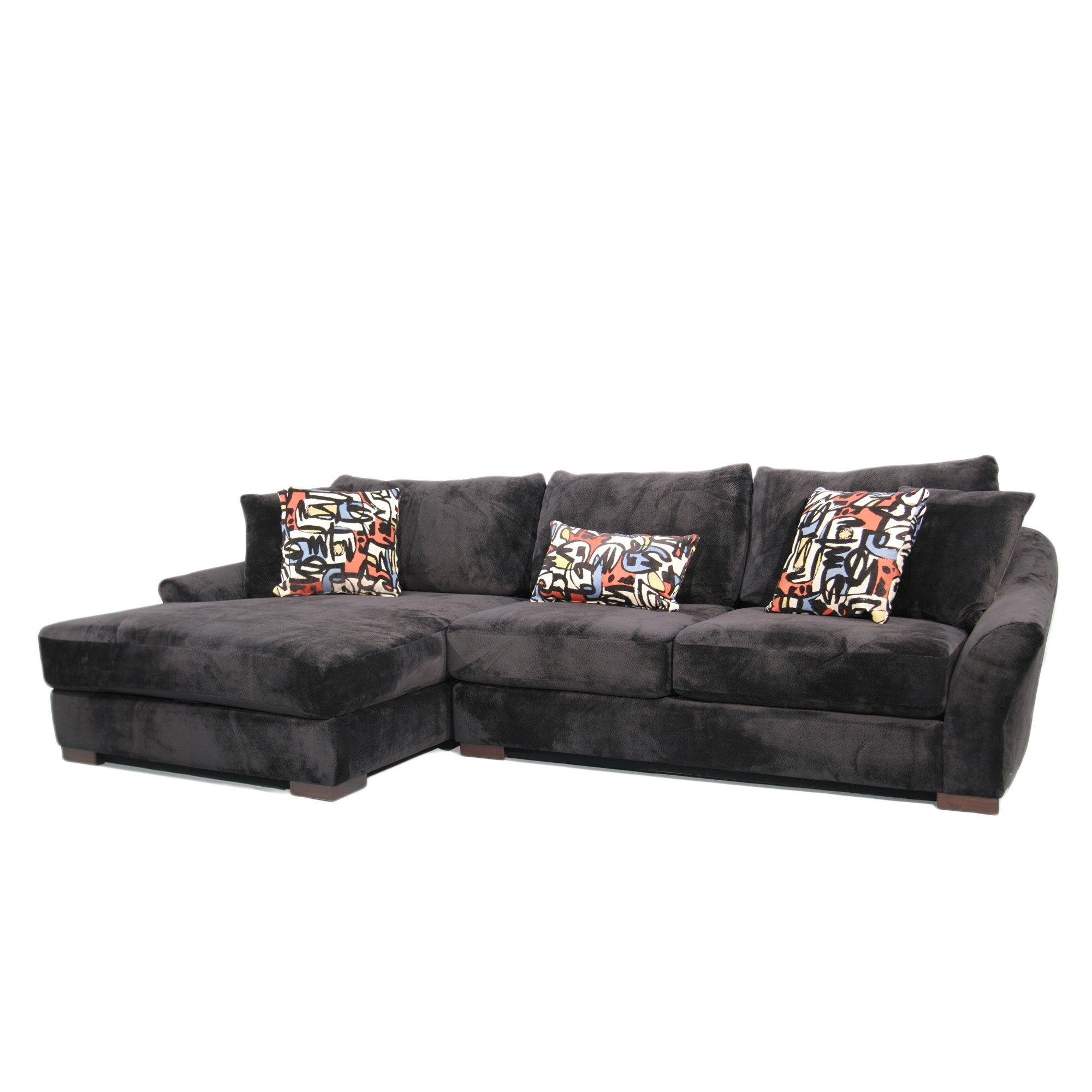 Shop Fairmont Designs Made To Order Audrey 3-Piece Ebony Sectional intended for Harper Foam 3 Piece Sectionals With Raf Chaise (Image 25 of 30)