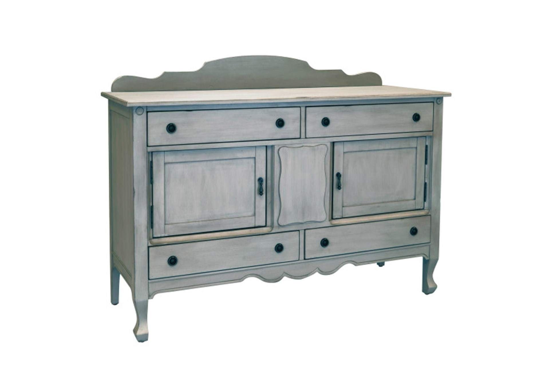 Shop For Magnolia Home Silhouette Dove Grey Sideboardjoanna regarding Jaxon Grey Sideboards (Image 28 of 30)