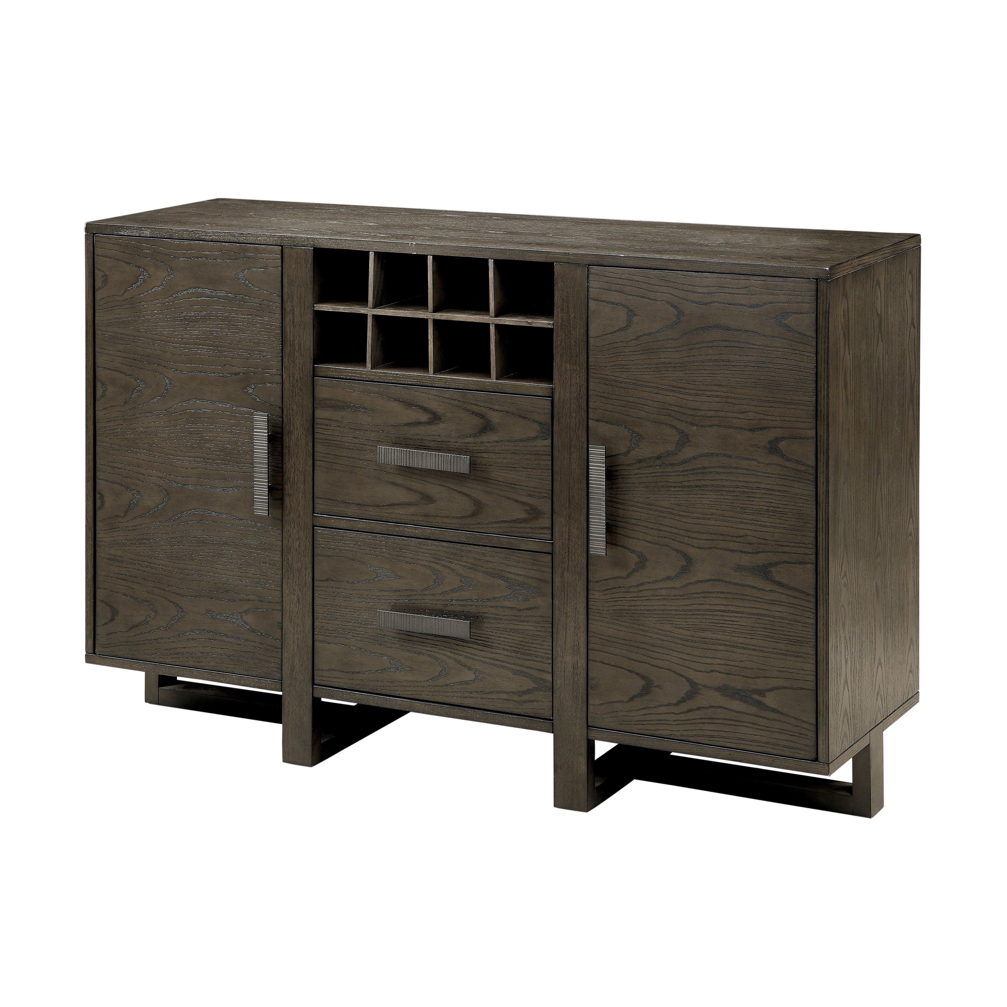 Shop Furniture Of America Basson Rustic Grey Dining Server - Free with Norwood Sideboards (Image 20 of 30)