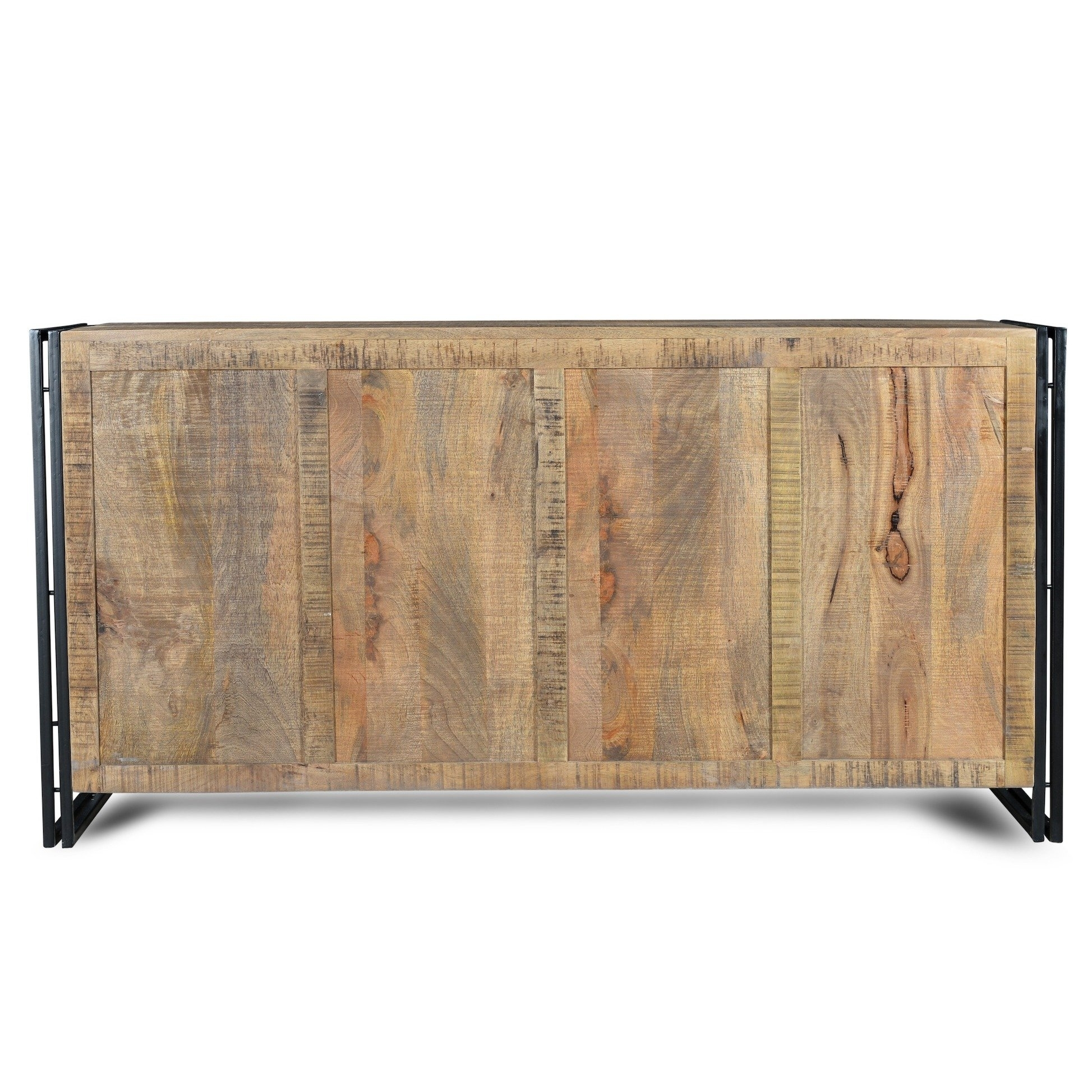 Shop Handmade Industrial Reclaimed Wood And Iron Sideboard (India regarding Vintage Brown Textured Sideboards (Image 15 of 30)