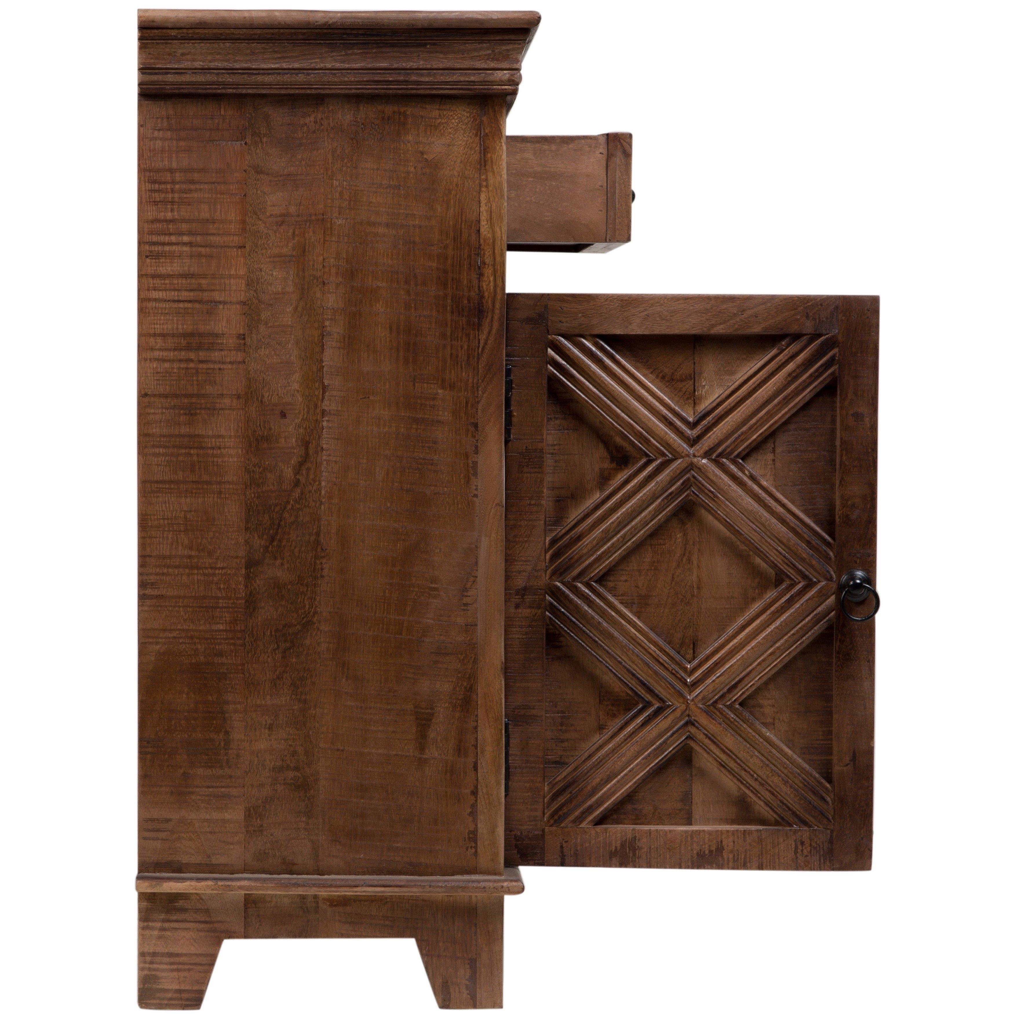Shop Handmade Wanderloot Plantation Mango Wood 2-Door, 2-Drawer in Mango Wood 2-Door/2-Drawer Sideboards (Image 24 of 30)