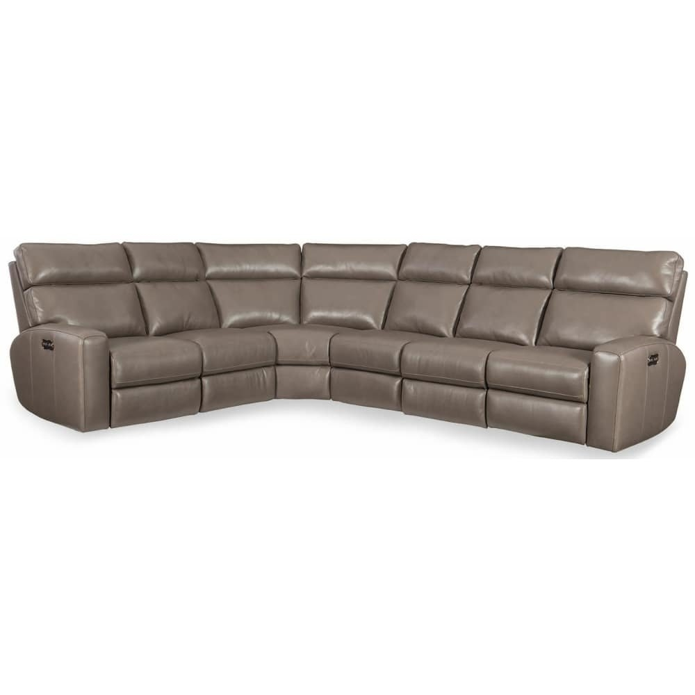 Shop Hooker Furniture Ss462-Ps-095 Mowry 131-1/2 Inch Wide Sectional intended for Marcus Grey 6 Piece Sectionals With  Power Headrest & Usb (Image 28 of 30)