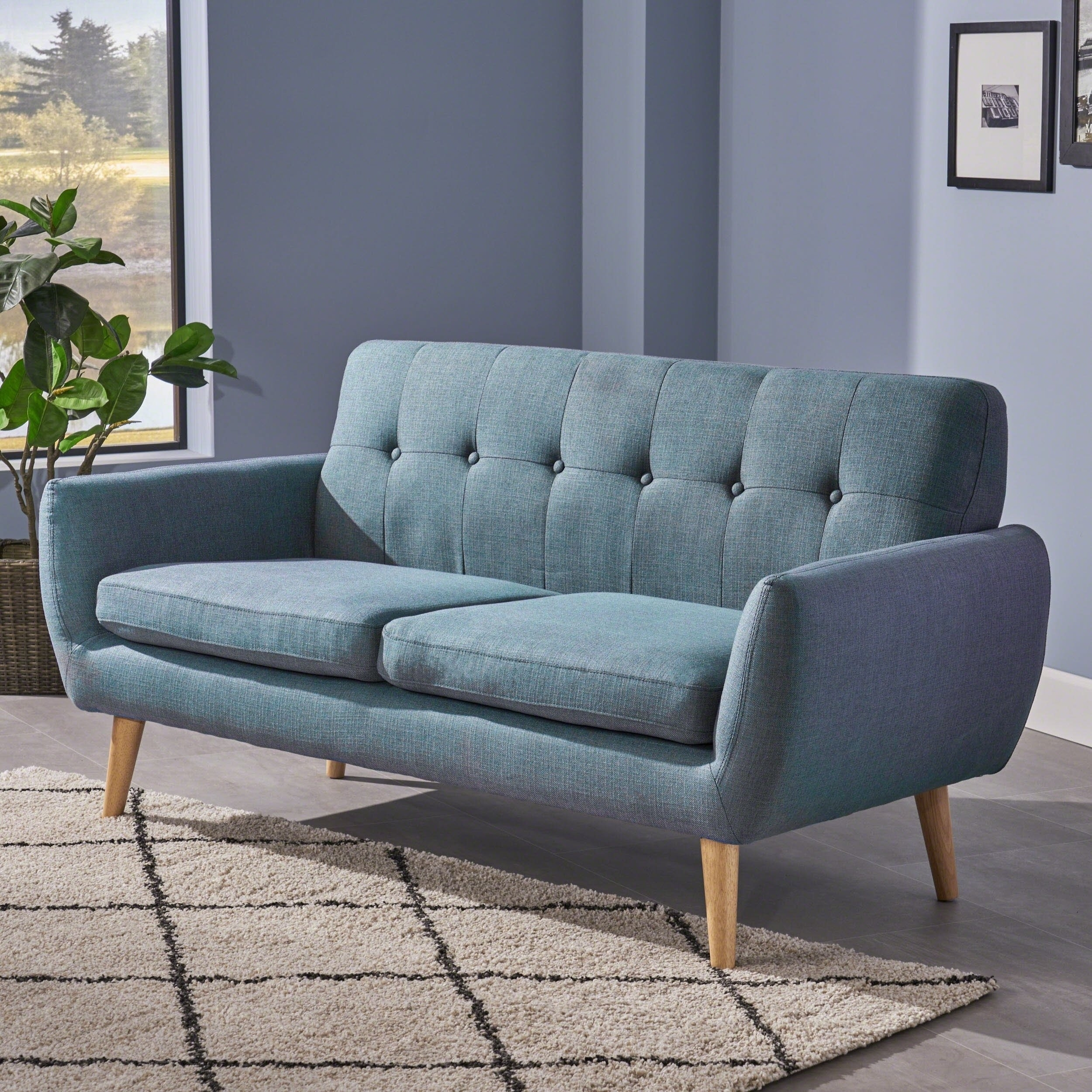 Shop Josephine Mid Century Modern Petite Fabric Sofachristopher within Josephine 2 Piece Sectionals With Raf Sofa (Image 26 of 30)
