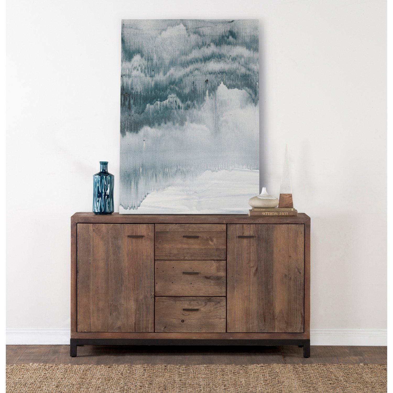 Shop Klamath Reclaimed Pine 3 Drawer 2 Door Sideboardkosas Home for Reclaimed Pine & Iron 4-Door Sideboards (Image 25 of 30)