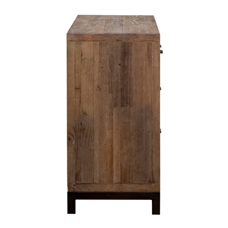 Shop Klamath Reclaimed Pine 3 Drawer 2 Door Sideboardkosas Home throughout Reclaimed Pine & Iron 4-Door Sideboards (Image 26 of 30)