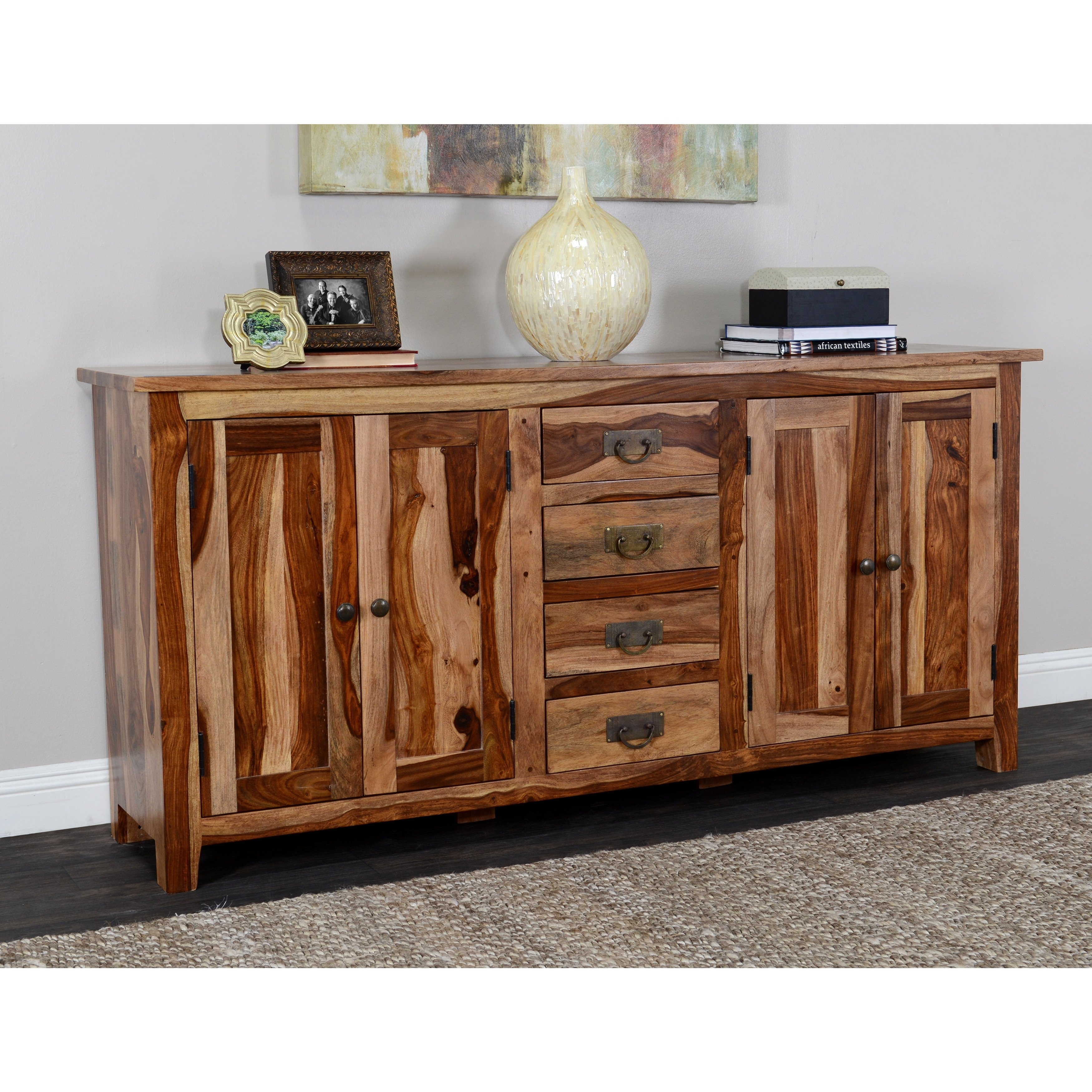 Shop Kosas Home Zabby 4-Drawer 4-Door Sideboard - Free Shipping for Brown Chevron 4-Door Sideboards (Image 24 of 30)