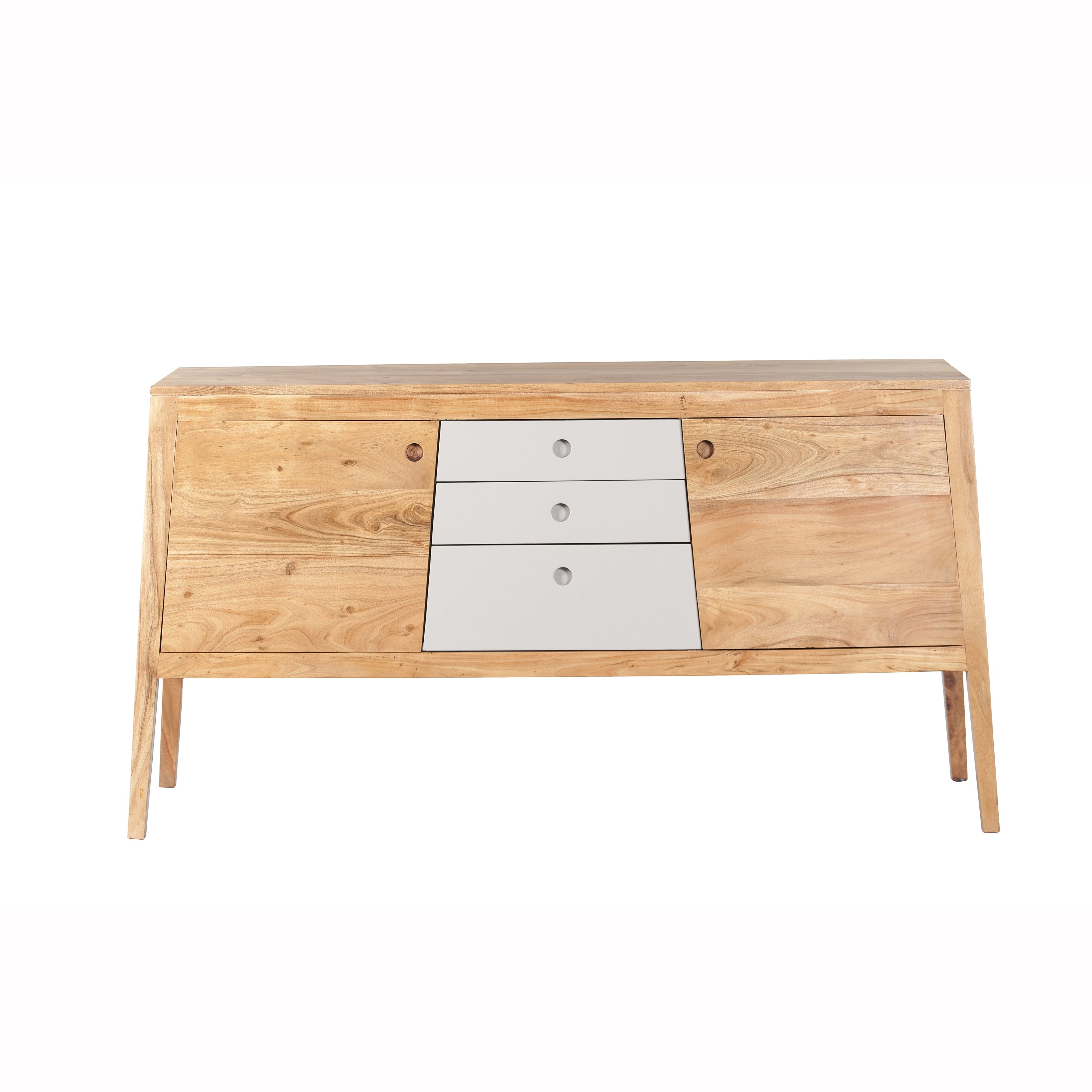 Shop Mandara Handcrafted Solid Acacia Wood Modern Console - 55X16X30 throughout Mandara 3-Drawer 2-Door Sideboards (Image 26 of 30)