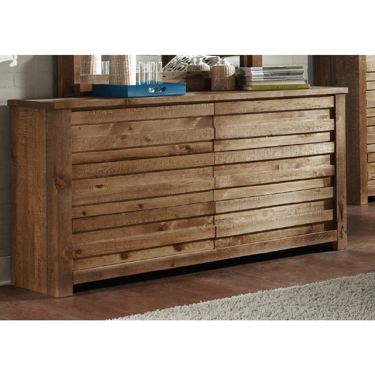 Shop Melrose Pine Dresser - Free Shipping Today - Overstock throughout Light Brown Reclaimed Elm & Pine 84 Inch Sideboards (Image 23 of 30)