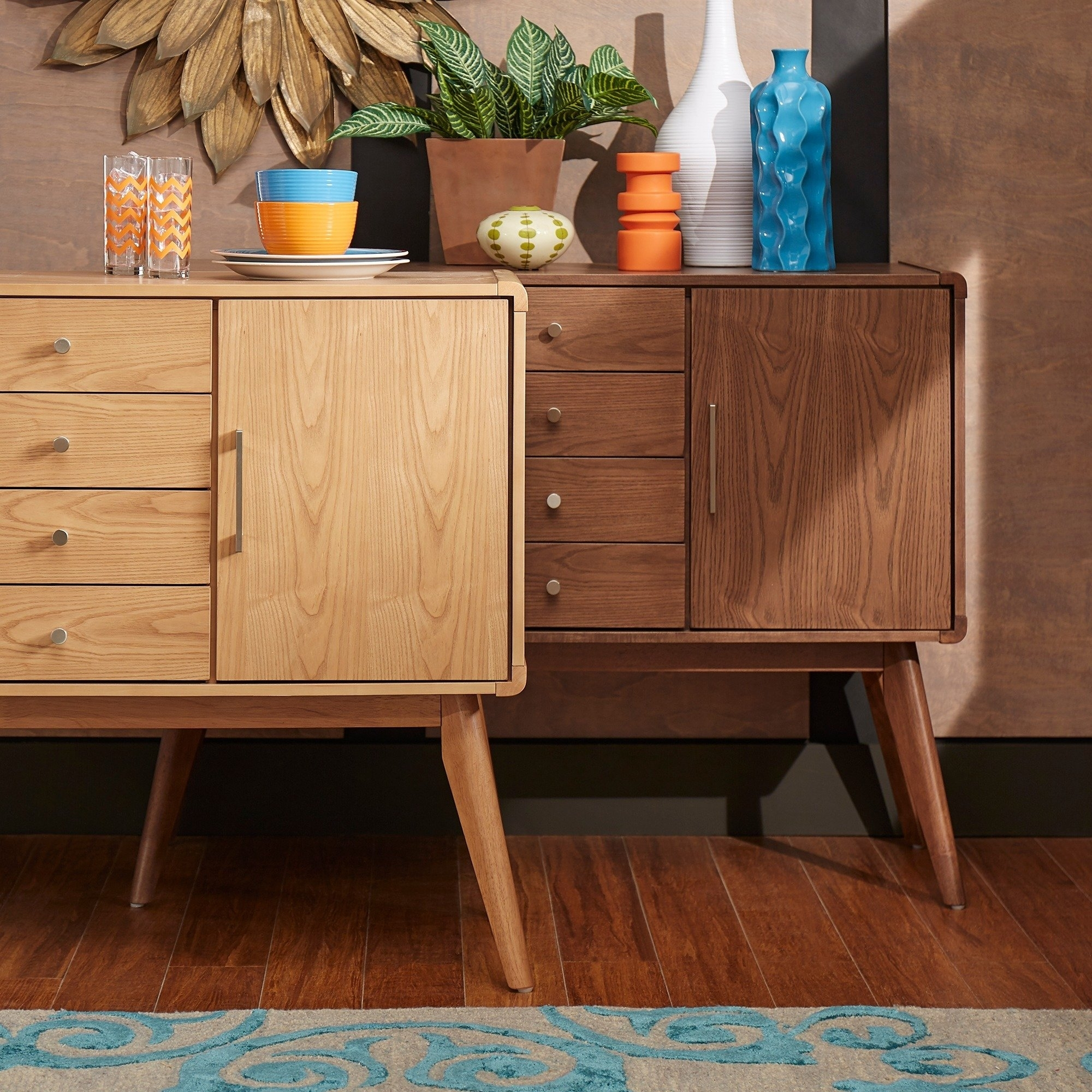 Shop Penelope Danish Modern Buffet Console Table Inspire Q Modern pertaining to Natural Oak Wood 78 Inch Sideboards (Image 24 of 30)