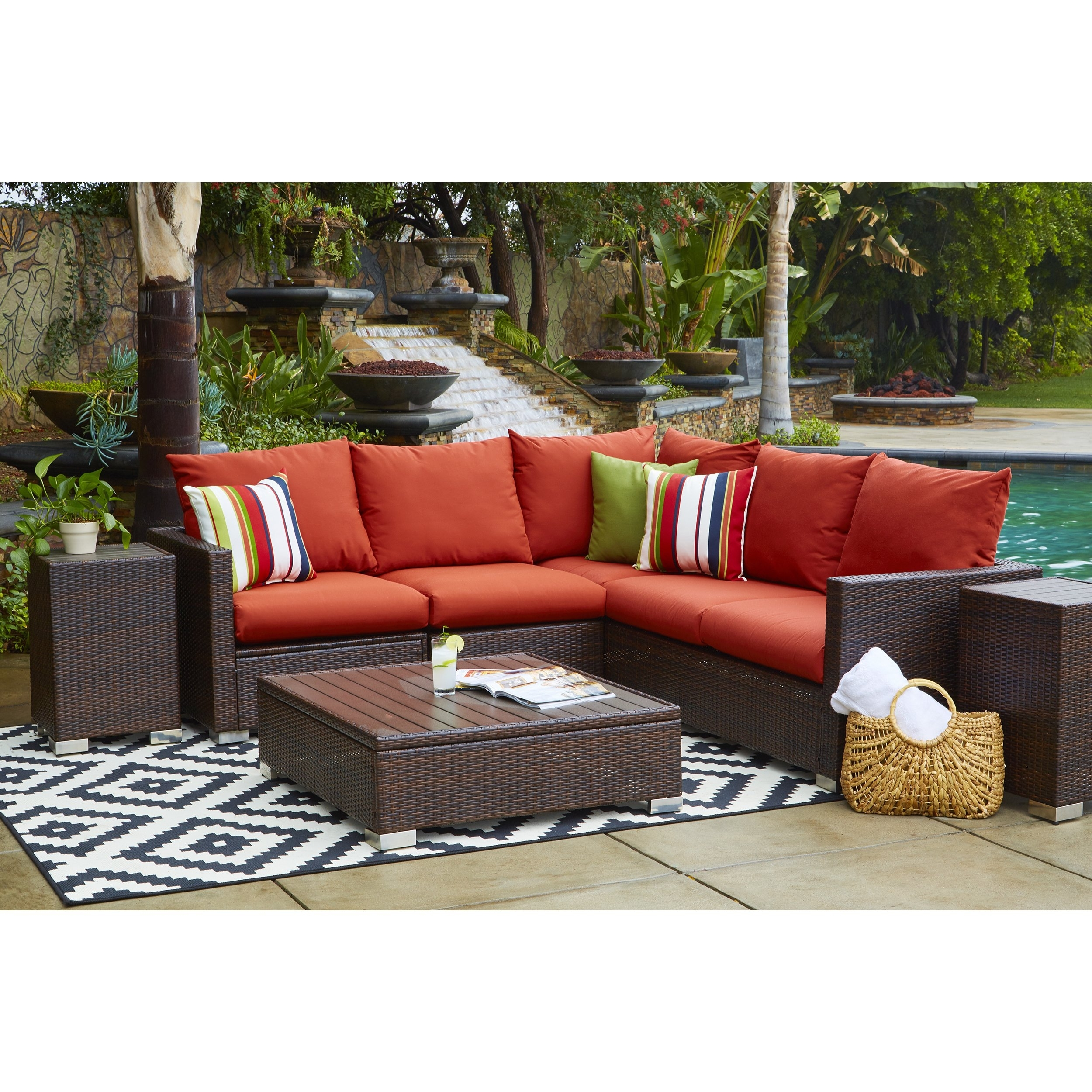 Shop Portfolio Aldrich Indoor/outdoor 3 Piece Sectional Set With in Karen 3 Piece Sectionals (Image 24 of 30)