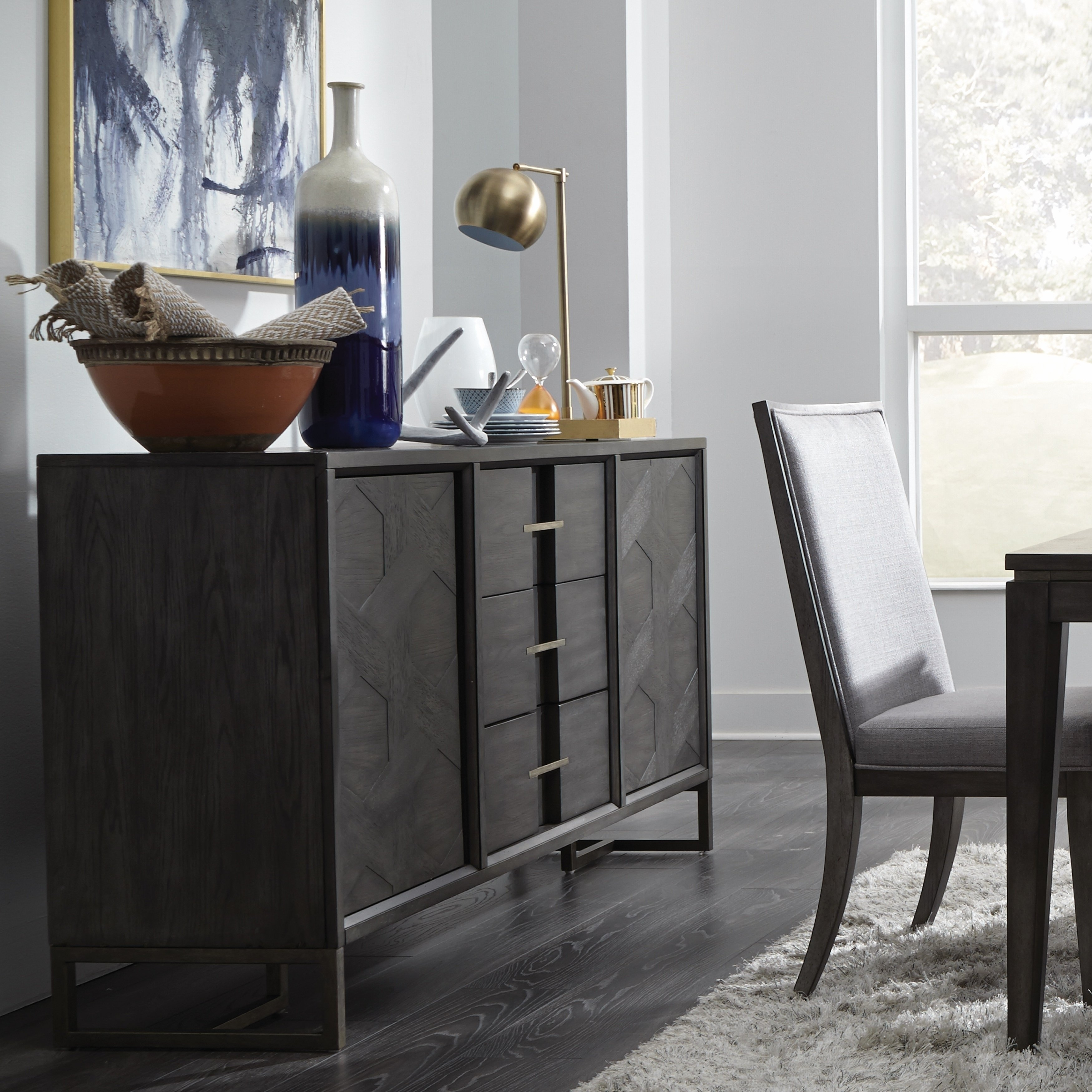 Shop Proximity Heights Contemporary Sideboard - On Sale - Free with Dark Smoked Oak With White Marble Top Sideboards (Image 16 of 30)