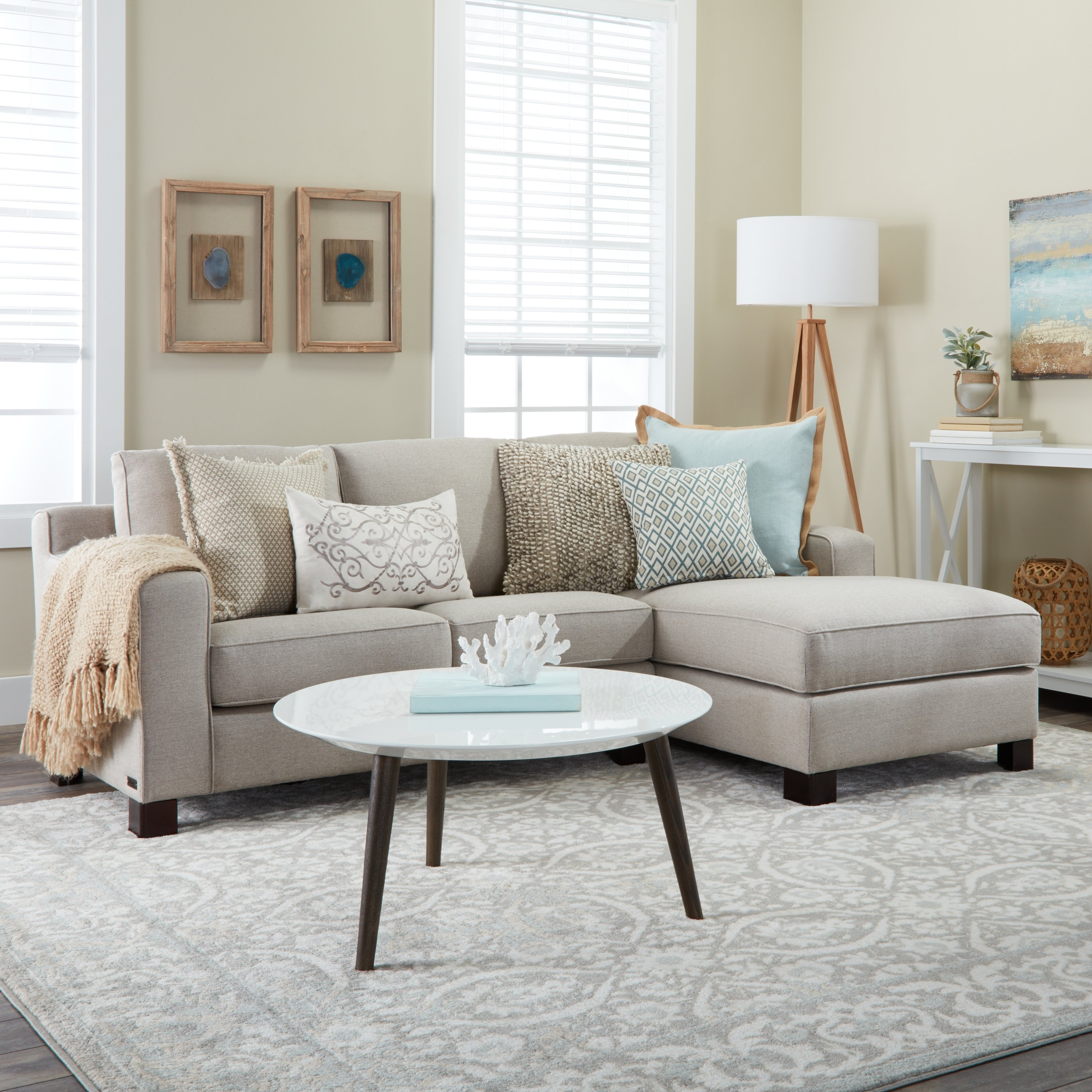 Shop Sectional Sofa With Chaise In Light Grey - On Sale - Free in Kristen Silver Grey 6 Piece Power Reclining Sectionals (Image 24 of 30)