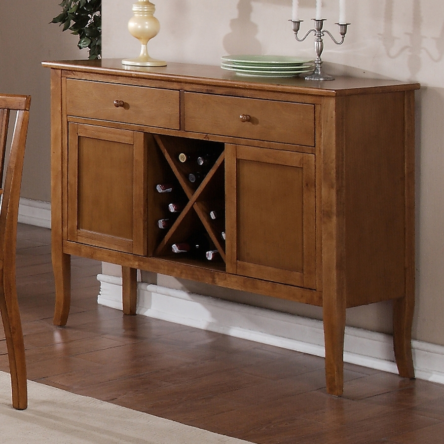 Shop Steve Silver Company Candice Oak Sideboard With Wine Storage At within Candice Ii Sideboards (Image 27 of 30)