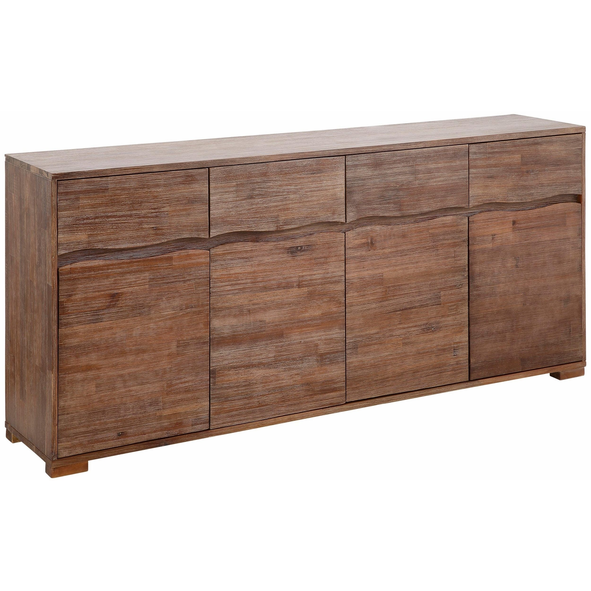 Shop Surf Sideboard With 4 Doors And 4 Drawers, Acacia Wood - On pertaining to Acacia Wood 4-Door Sideboards (Image 22 of 30)