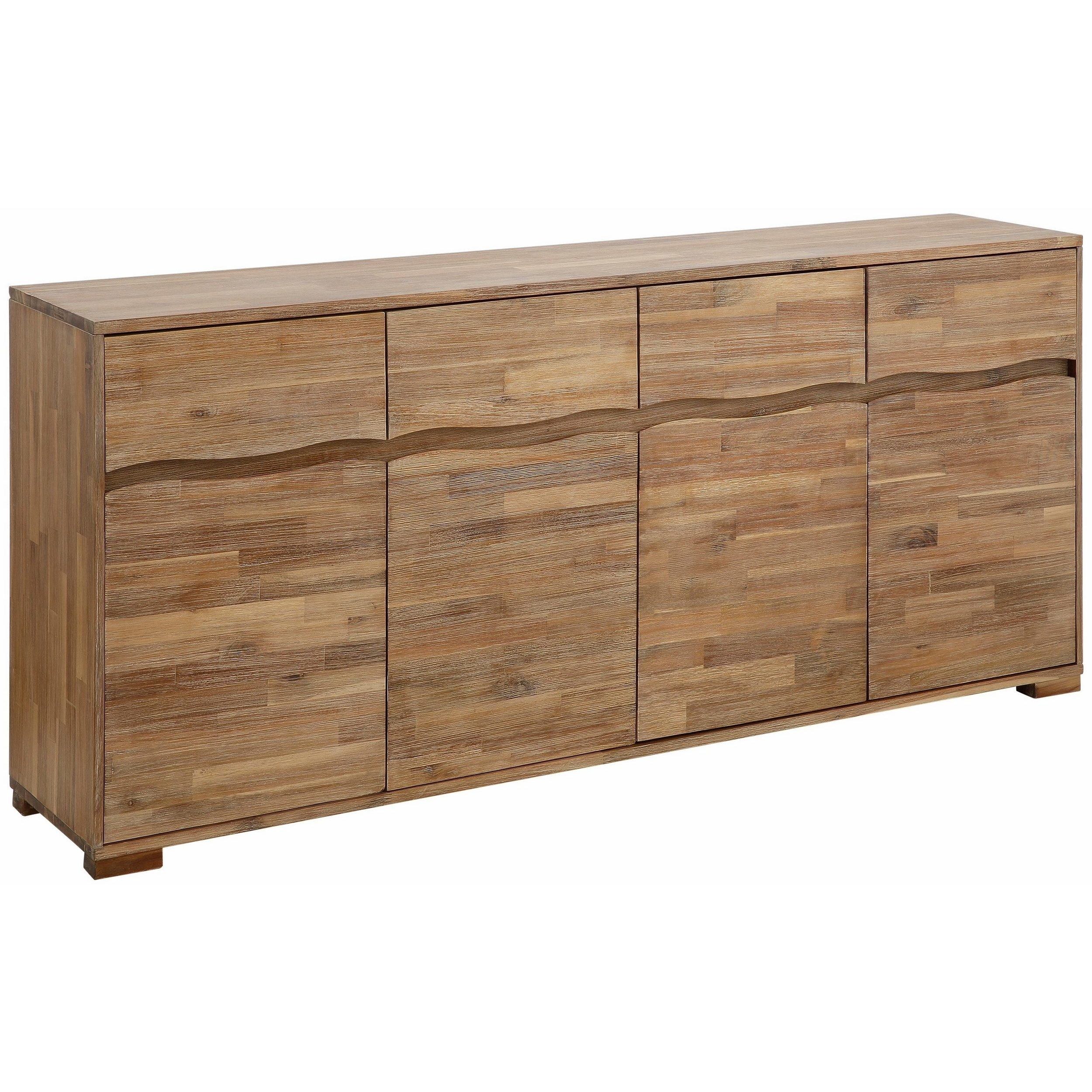 Shop Surf Sideboard With 4 Doors And 4 Drawers, Acacia Wood - On throughout Acacia Wood 4-Door Sideboards (Image 23 of 30)
